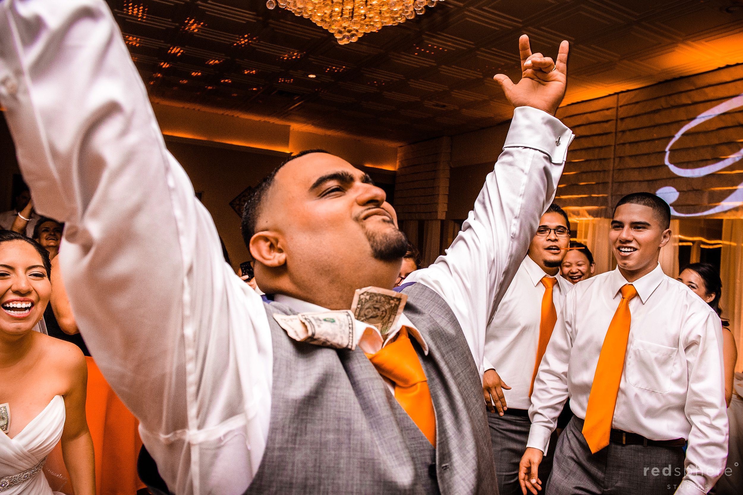 Groom Enjoying His Night With Bride and Closest Friends