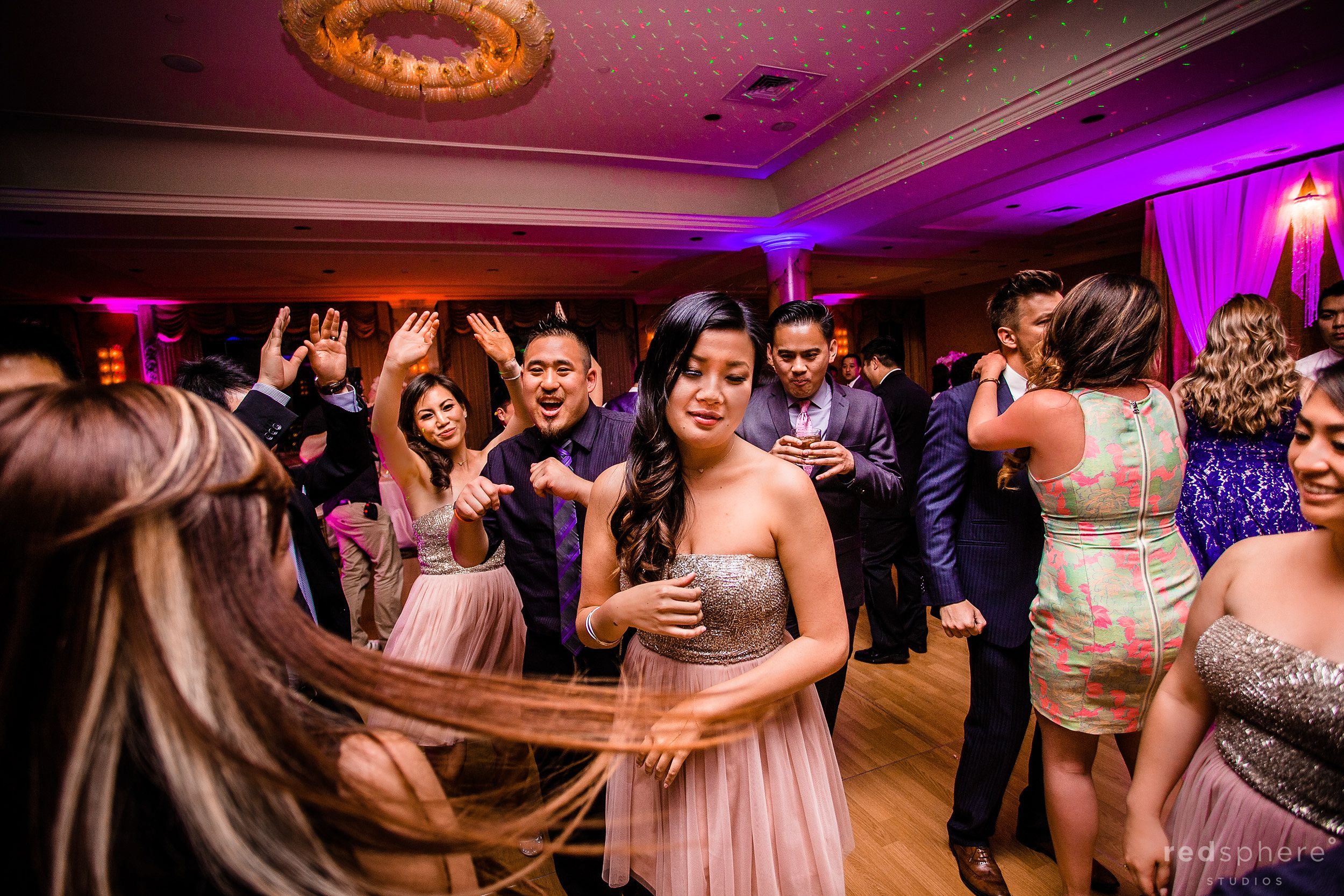 Guests Dance Passionately at Fairmont Hotel Wedding