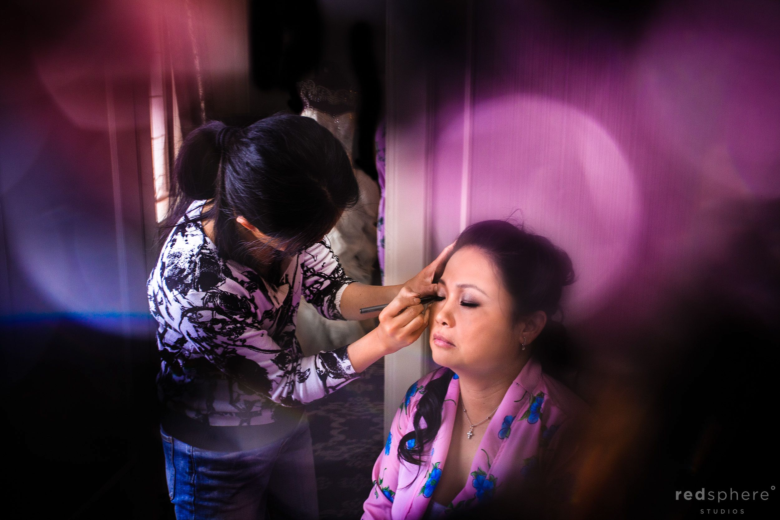 Special Guest Getting Makeup Done, Bokeh Prep