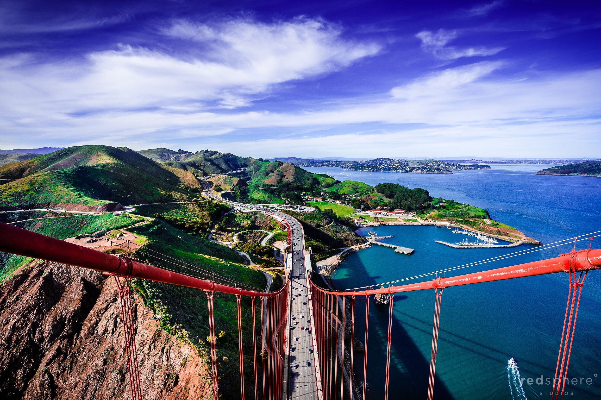Above the Clouds on top of the Golden Gate Bridge, Marin Headlands View