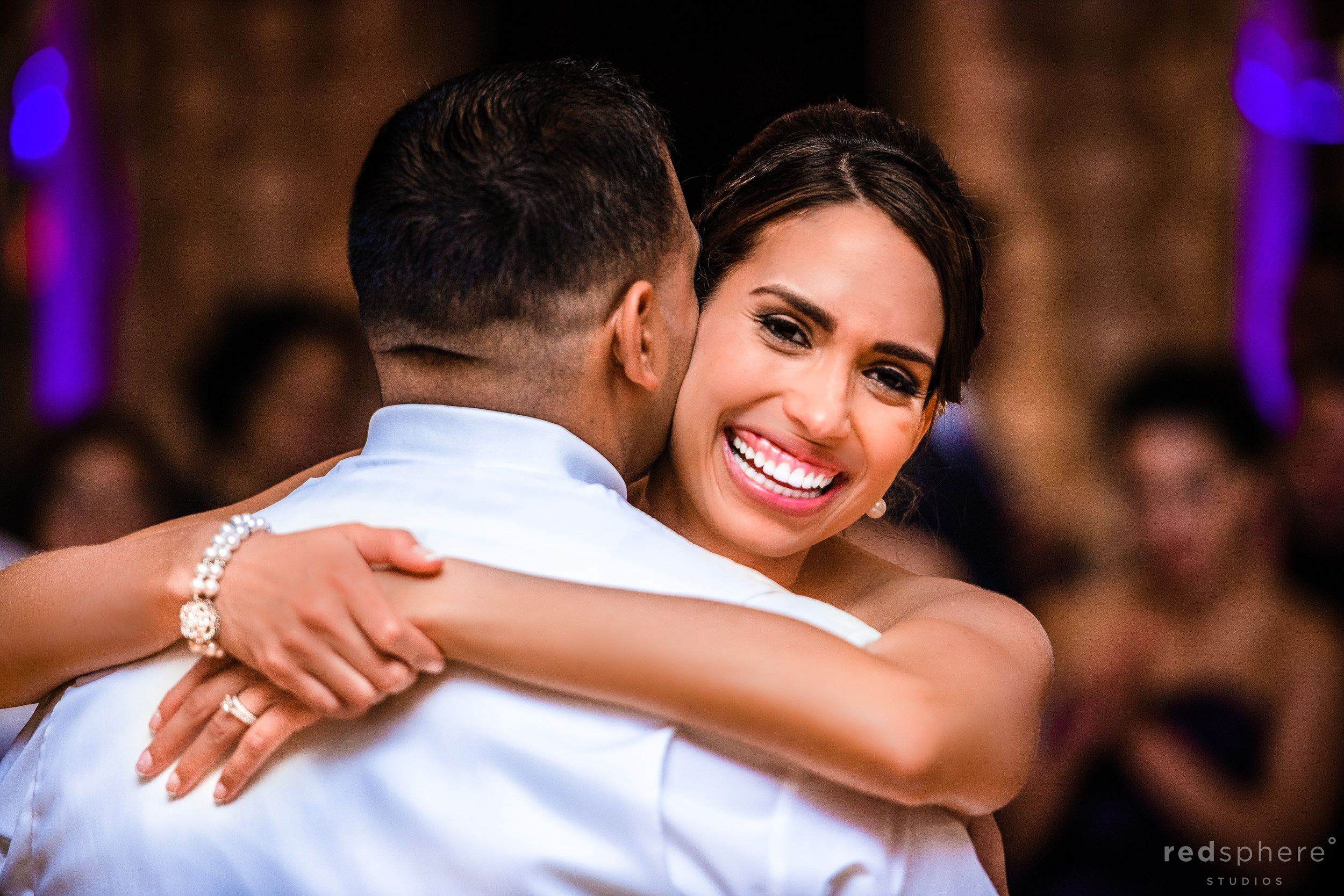Bride Filled With Smiles as She Dances With Groom