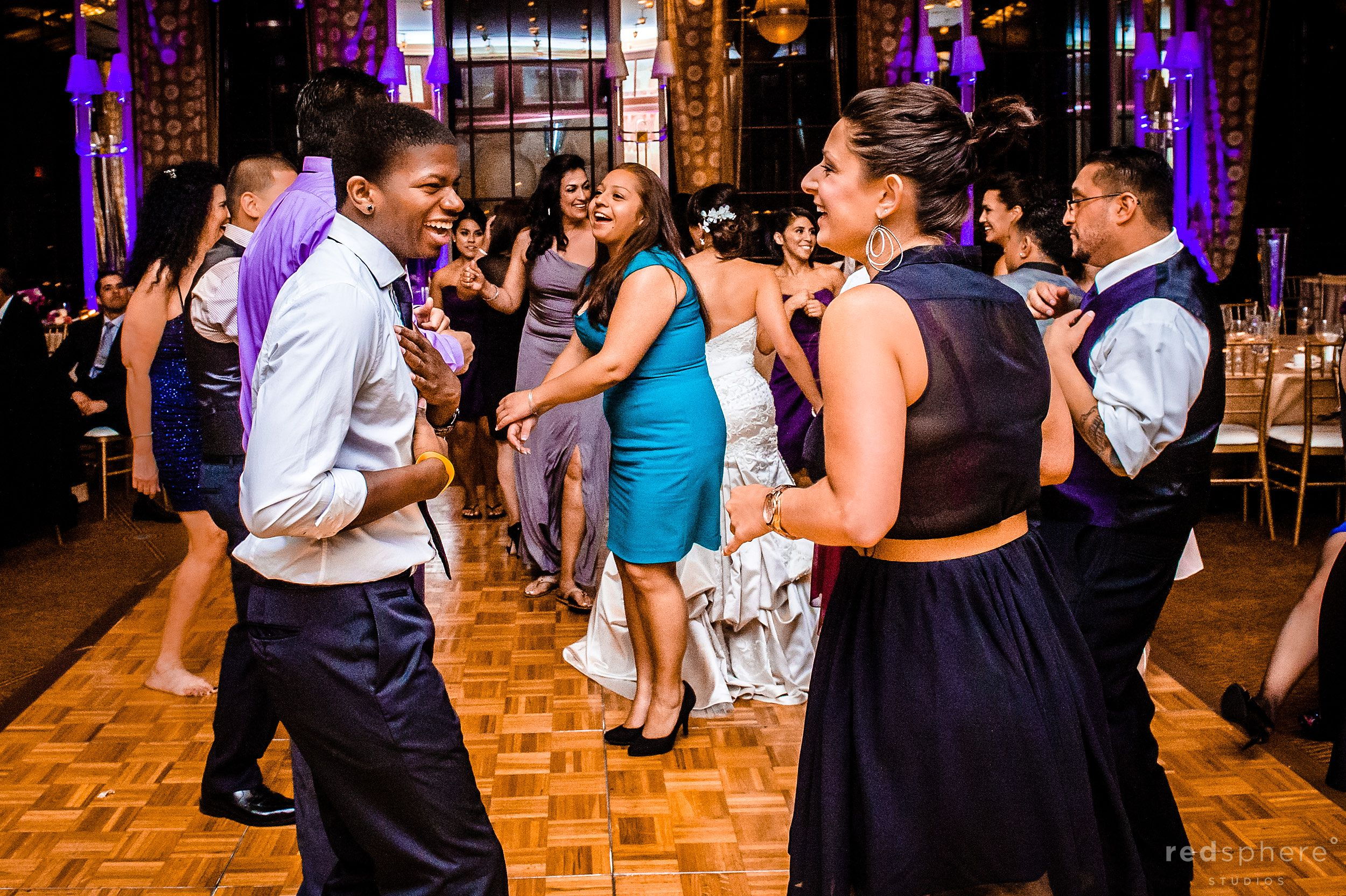 Guests Dancing and Celebrating at Westin St. Francis San Francisco