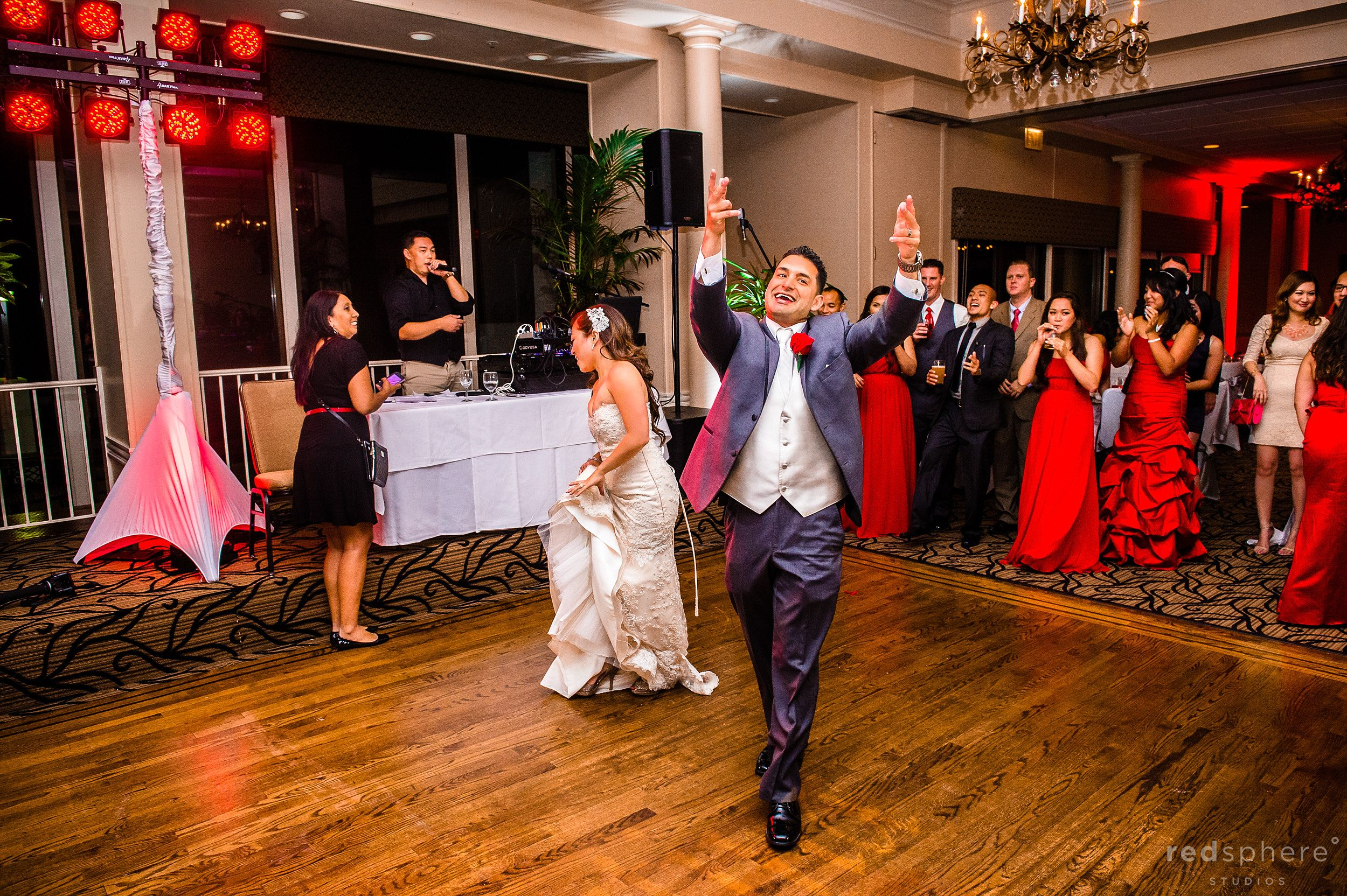 Very Enthusiastic Groom on The Dance Floor Crow Canyon Country Club