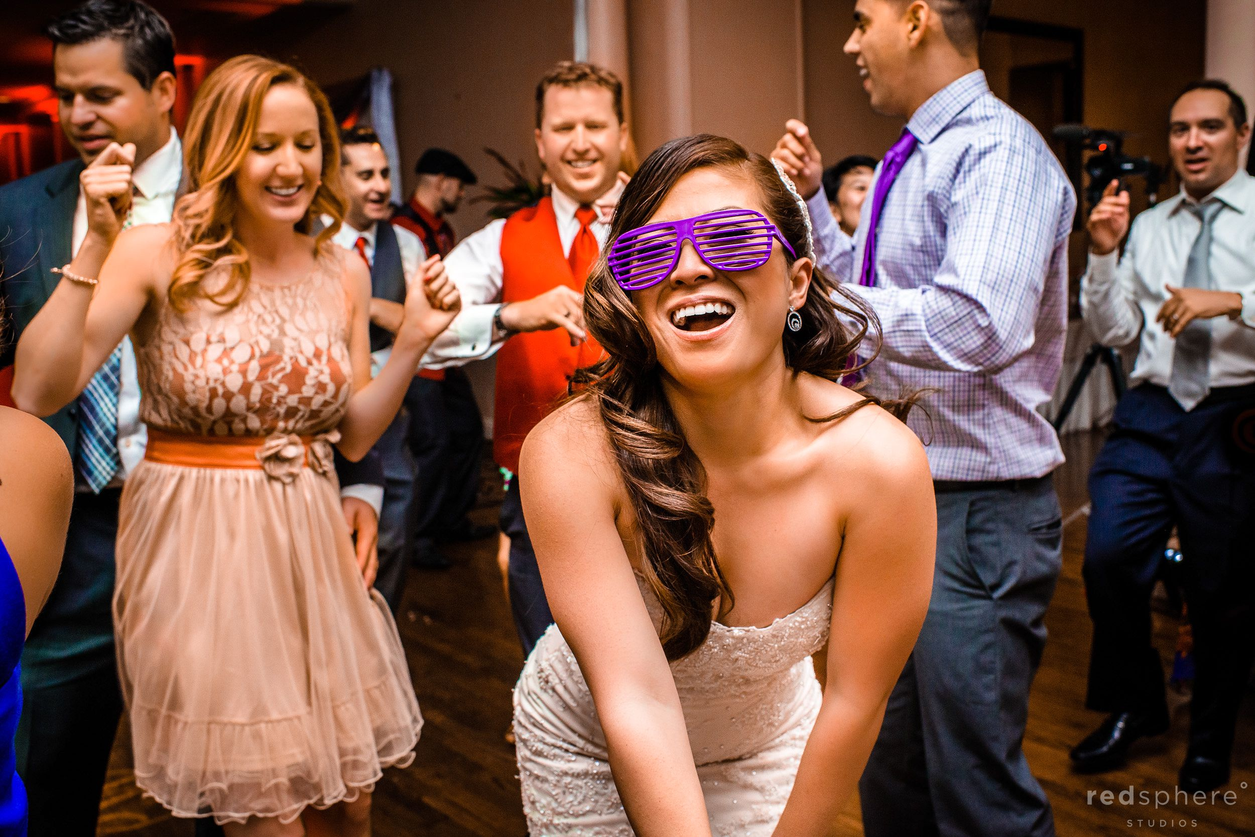 Bride Follows Groom and Shows Her Silly Side