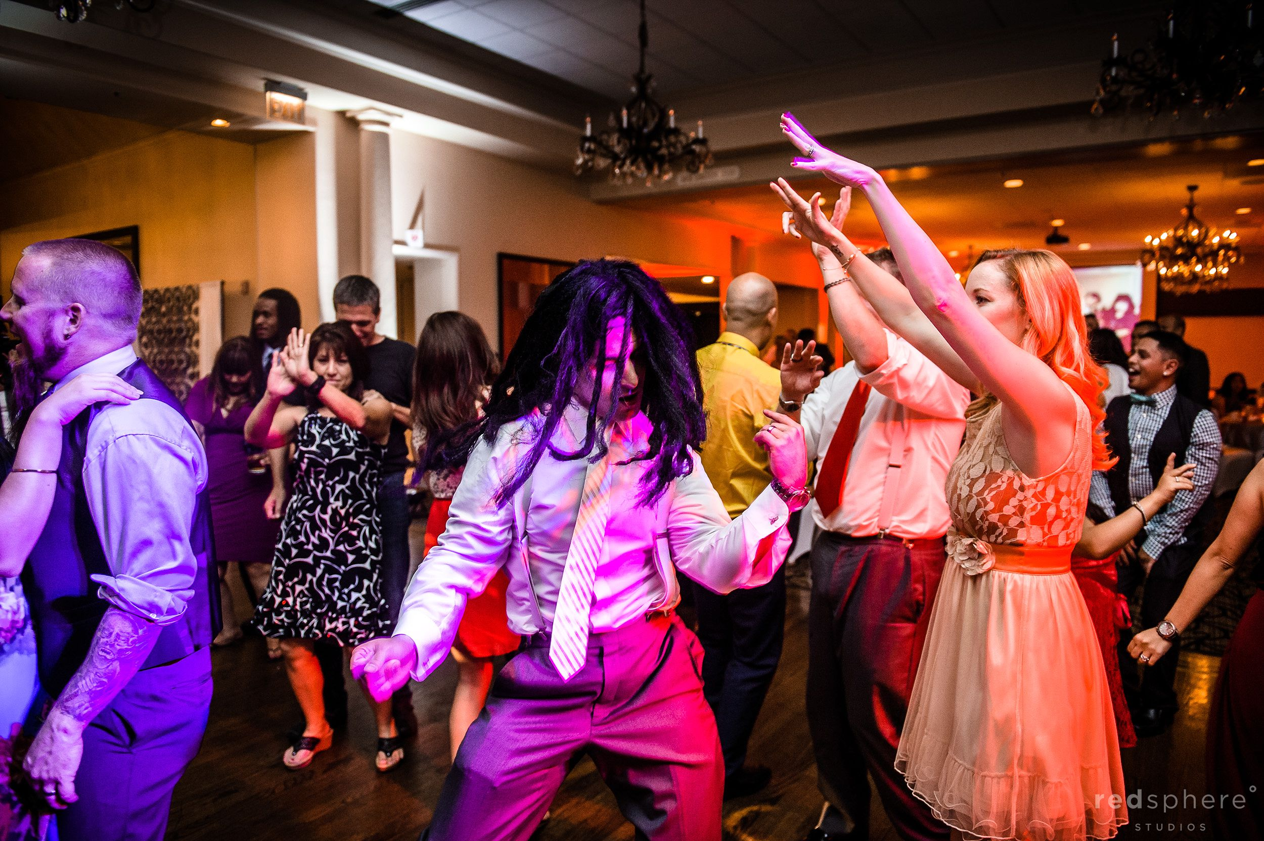 Guests Into The Music and Dancing Their Minds Away