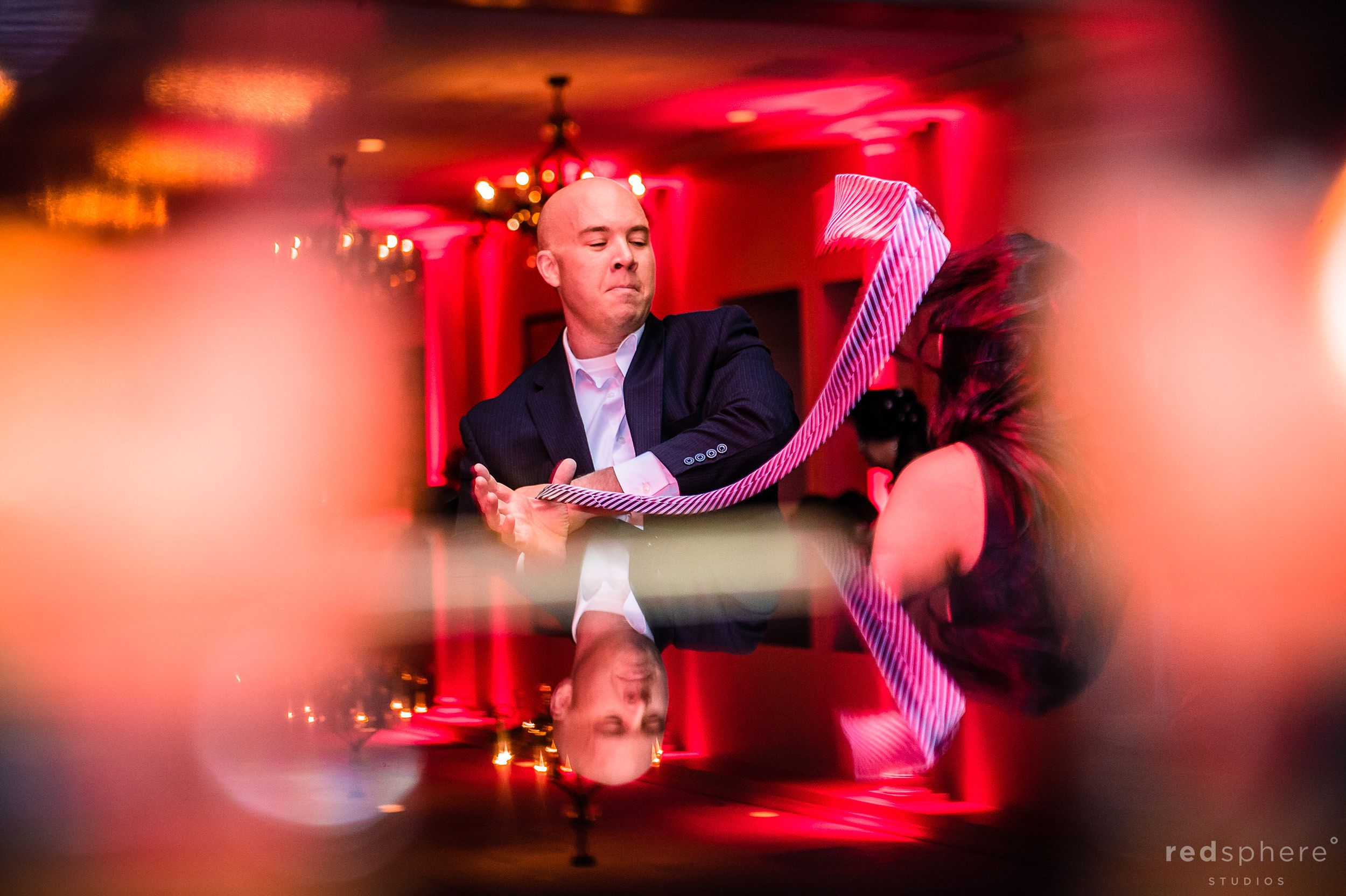 Guests Dancing and Table Reflections Of An Amazing Night, Bokeh