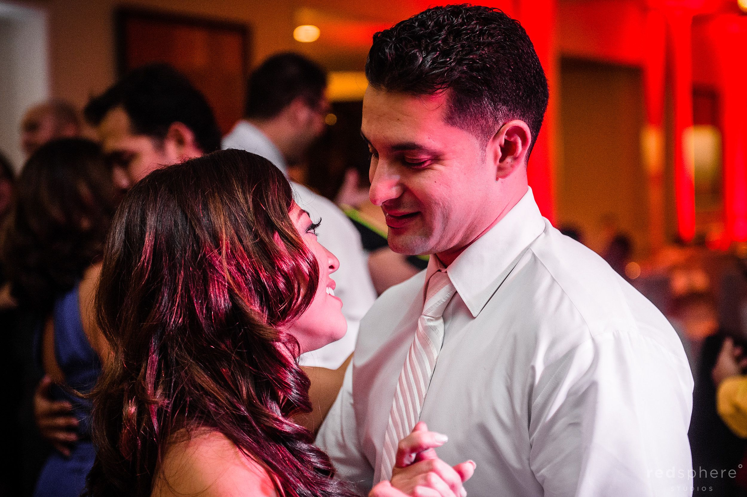 Bride and Groom Share Last Night As The Night Comes To An End, Slow Dancing at Crow Canyon Country Club
