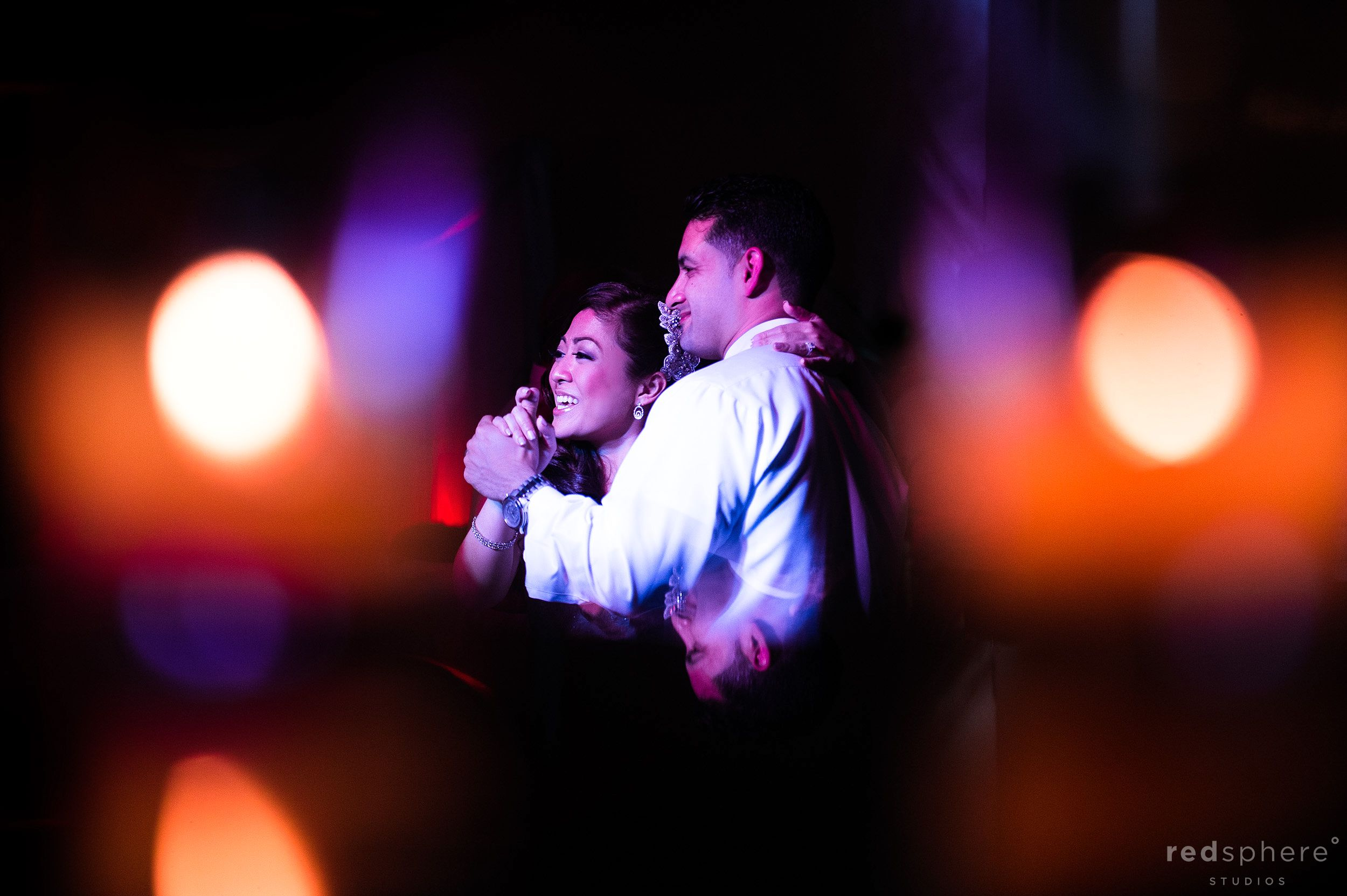 Newly Wed Couple Smiling At Family and Friends, Incredible Bokeh
