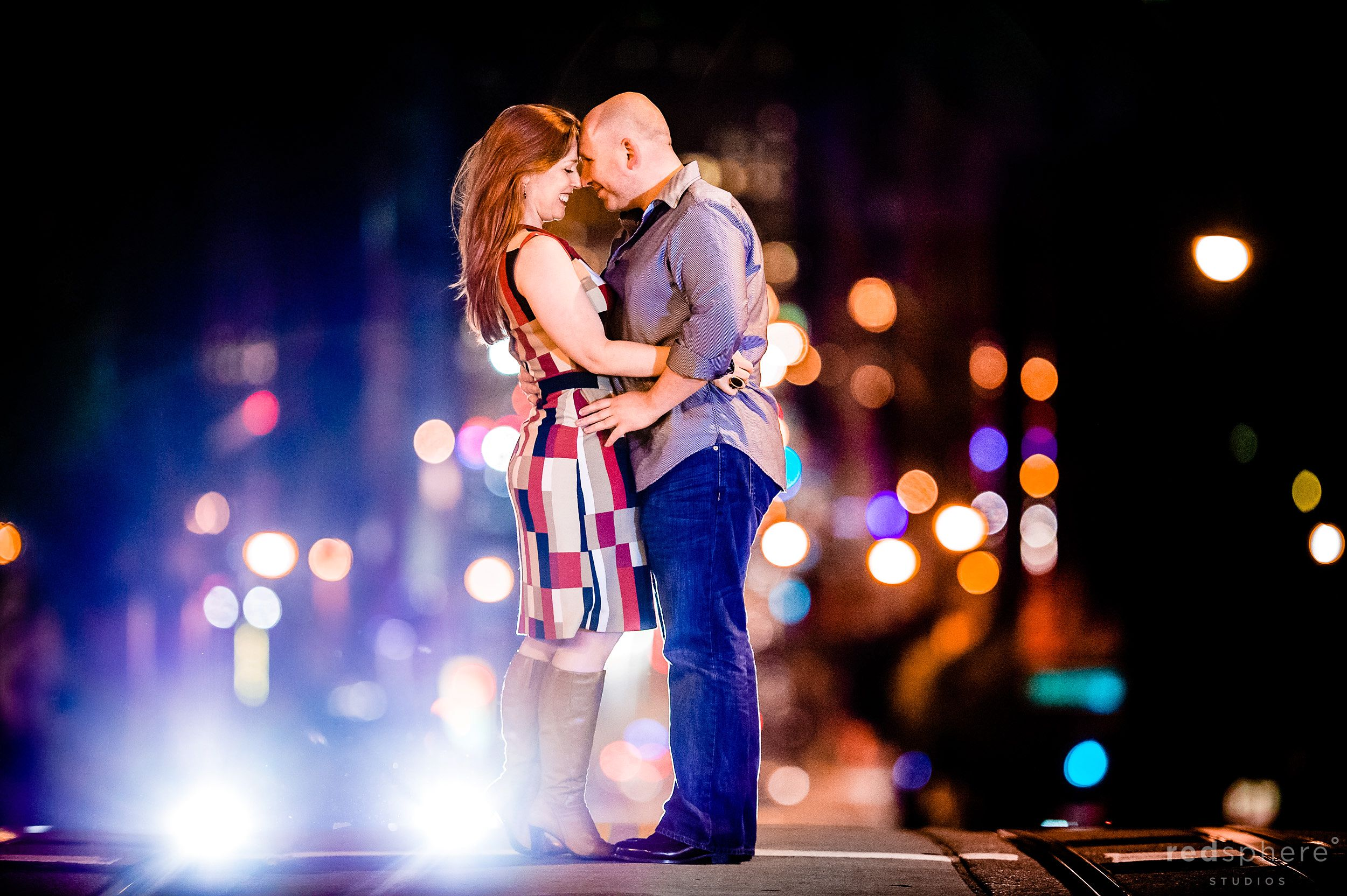 San Francisco California Street Engagement Session, Cable Car Road
