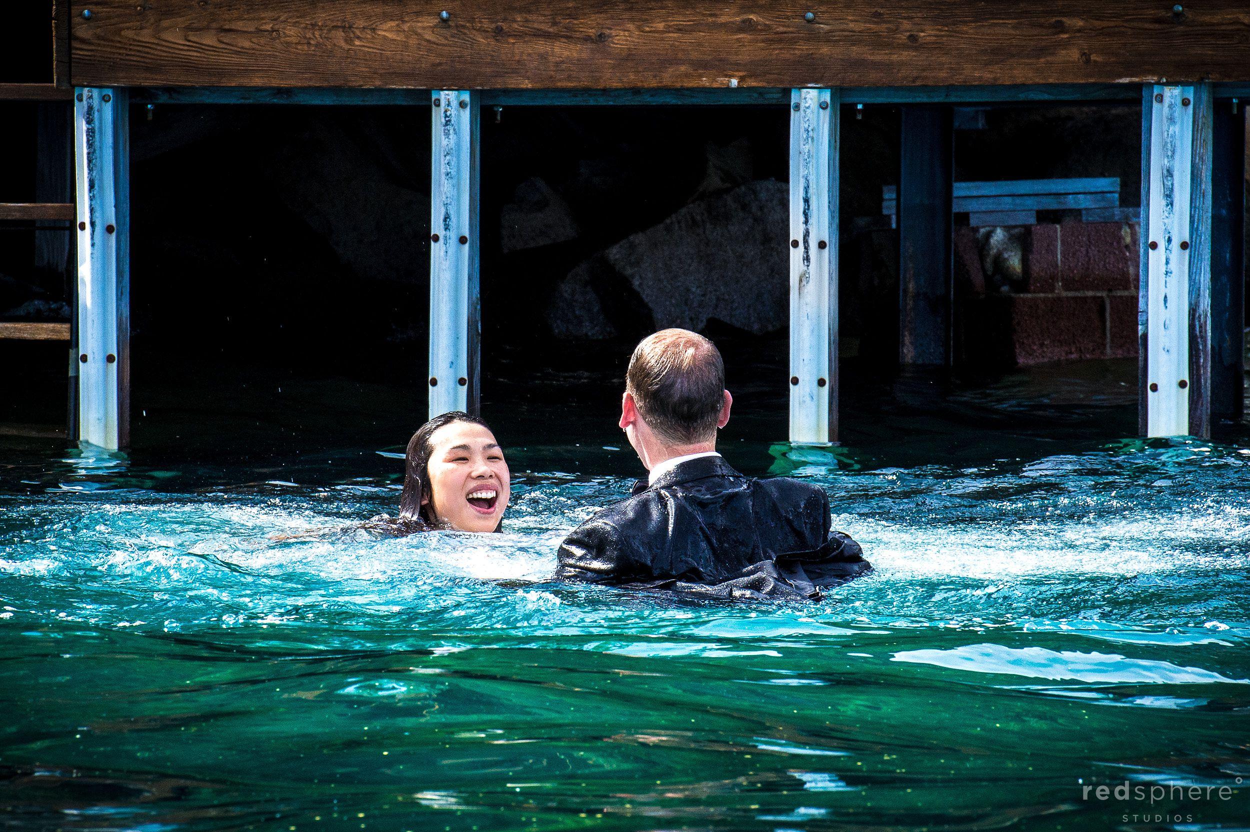 Soaked Couple, Lake Tahoe Engagements