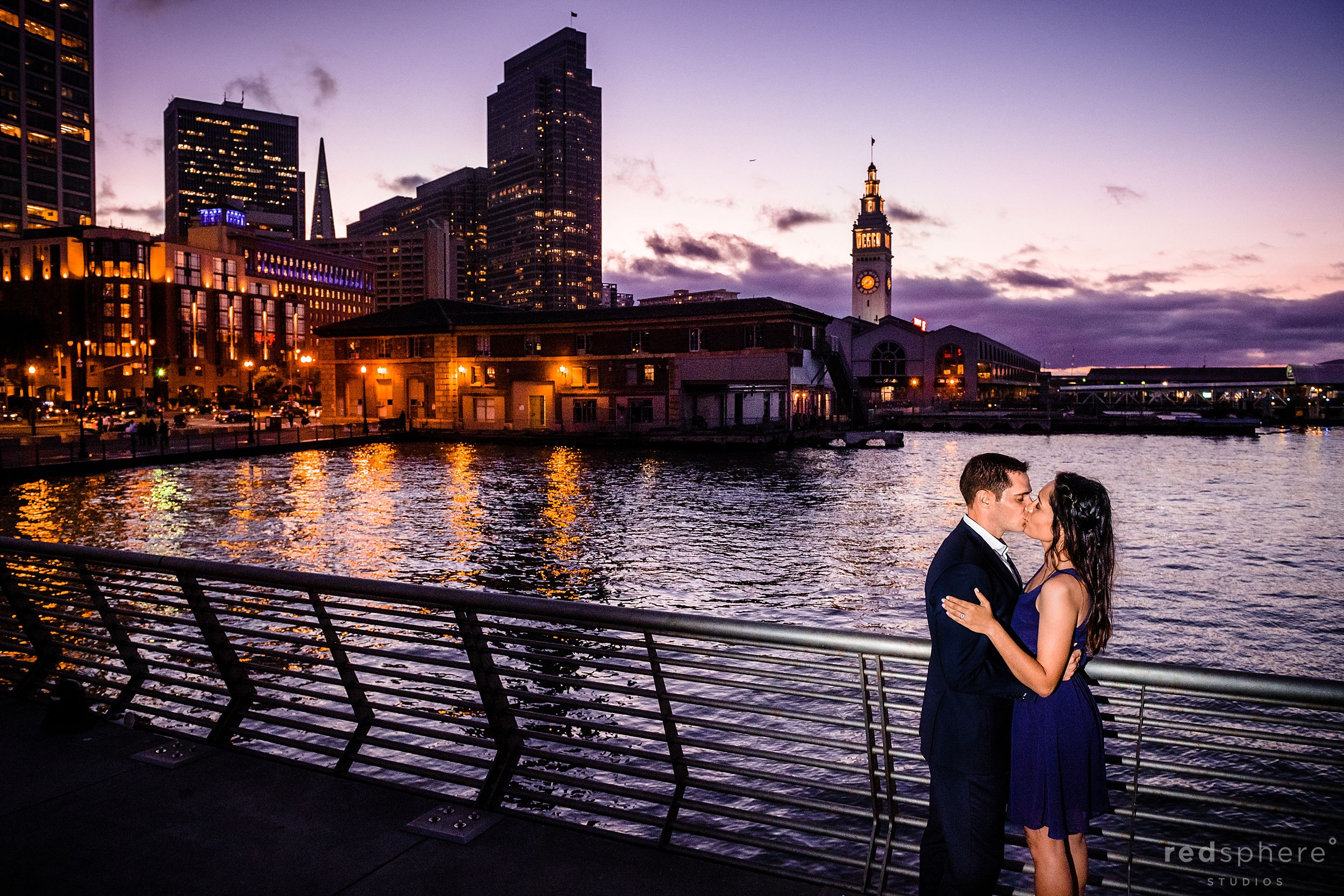 San Francisco Engagement Session Photos at Embarcadero and Ferry Building