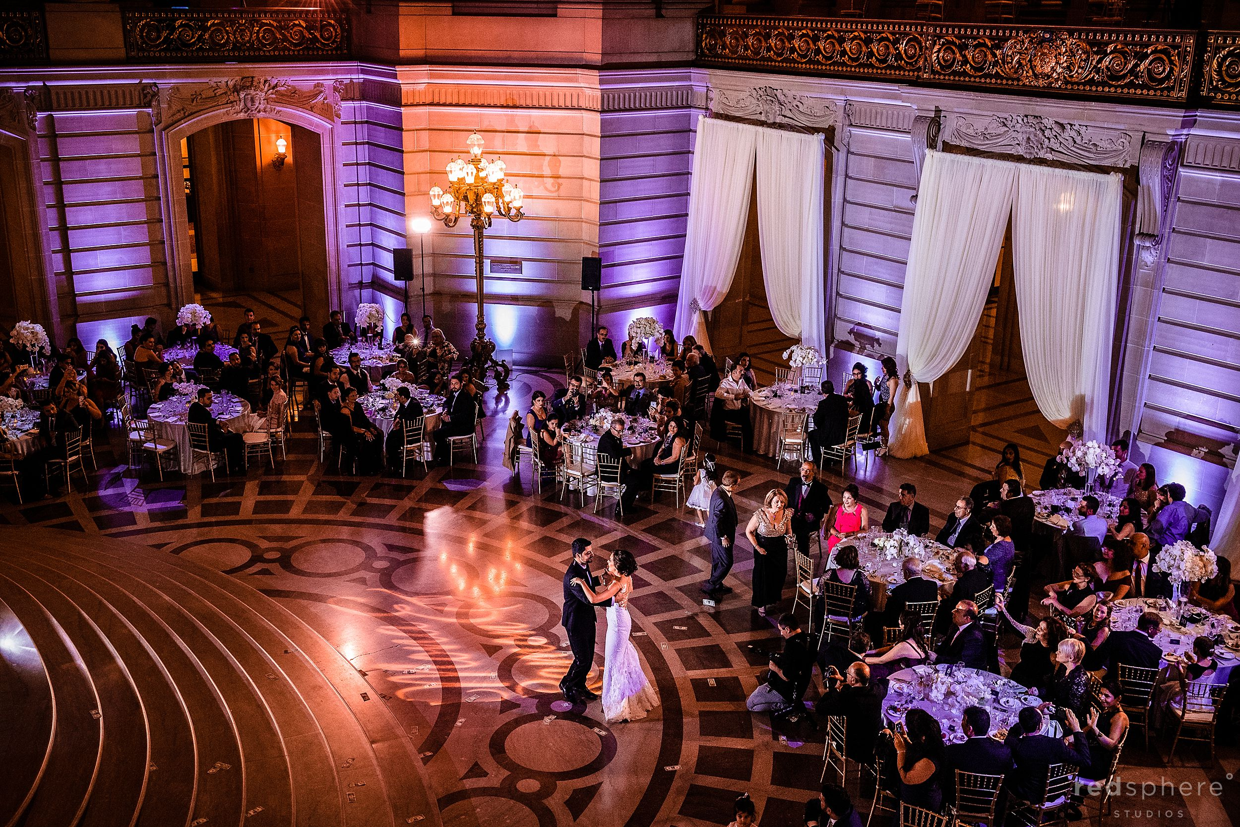 First Dance. San Francisco City Hall Wedding Photographer