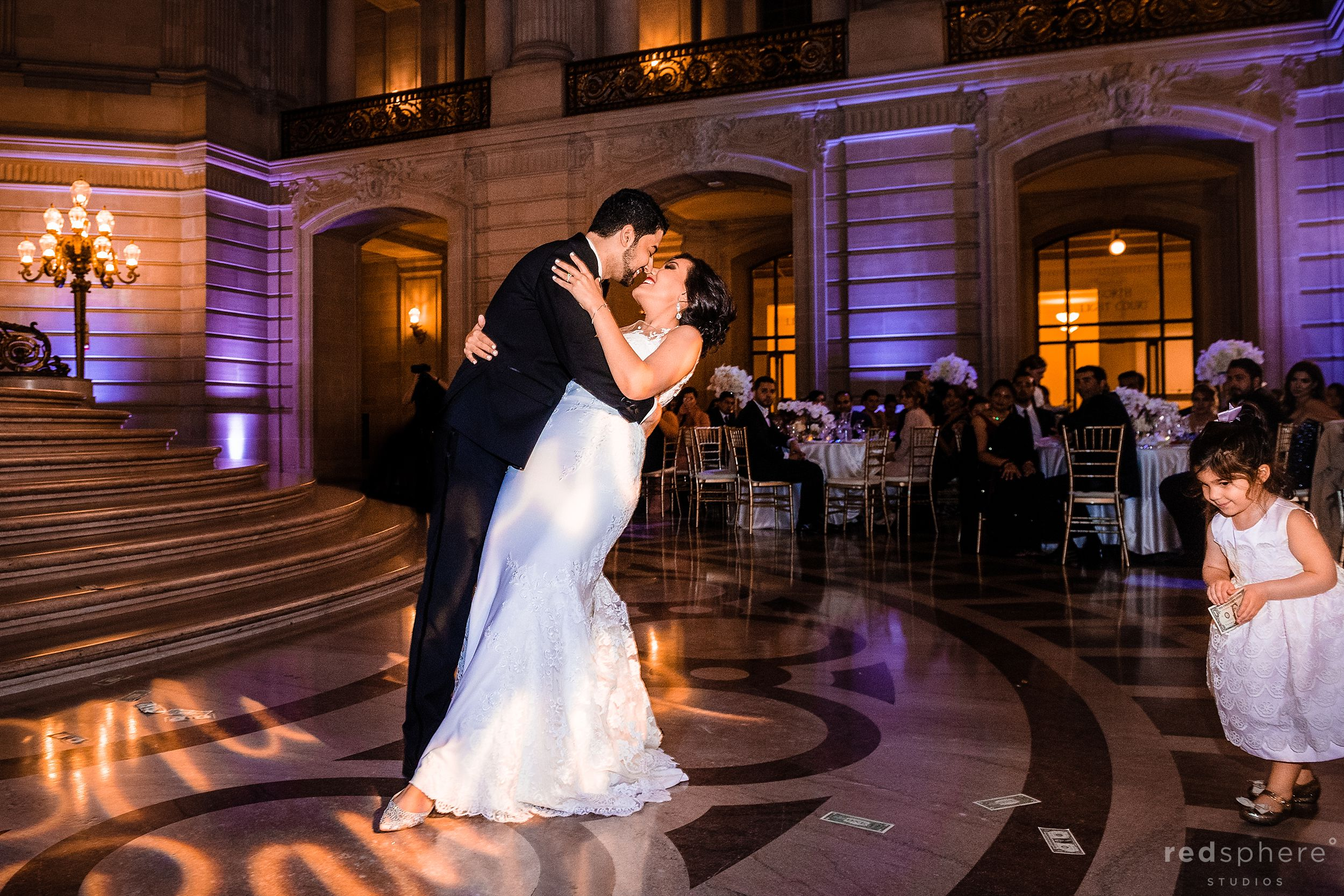 sf city hall wedding first dance