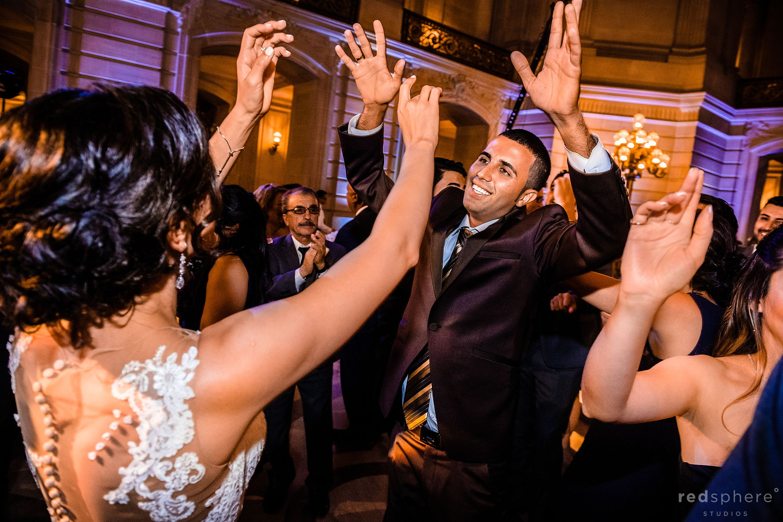 Wedding dance party at SF city hall