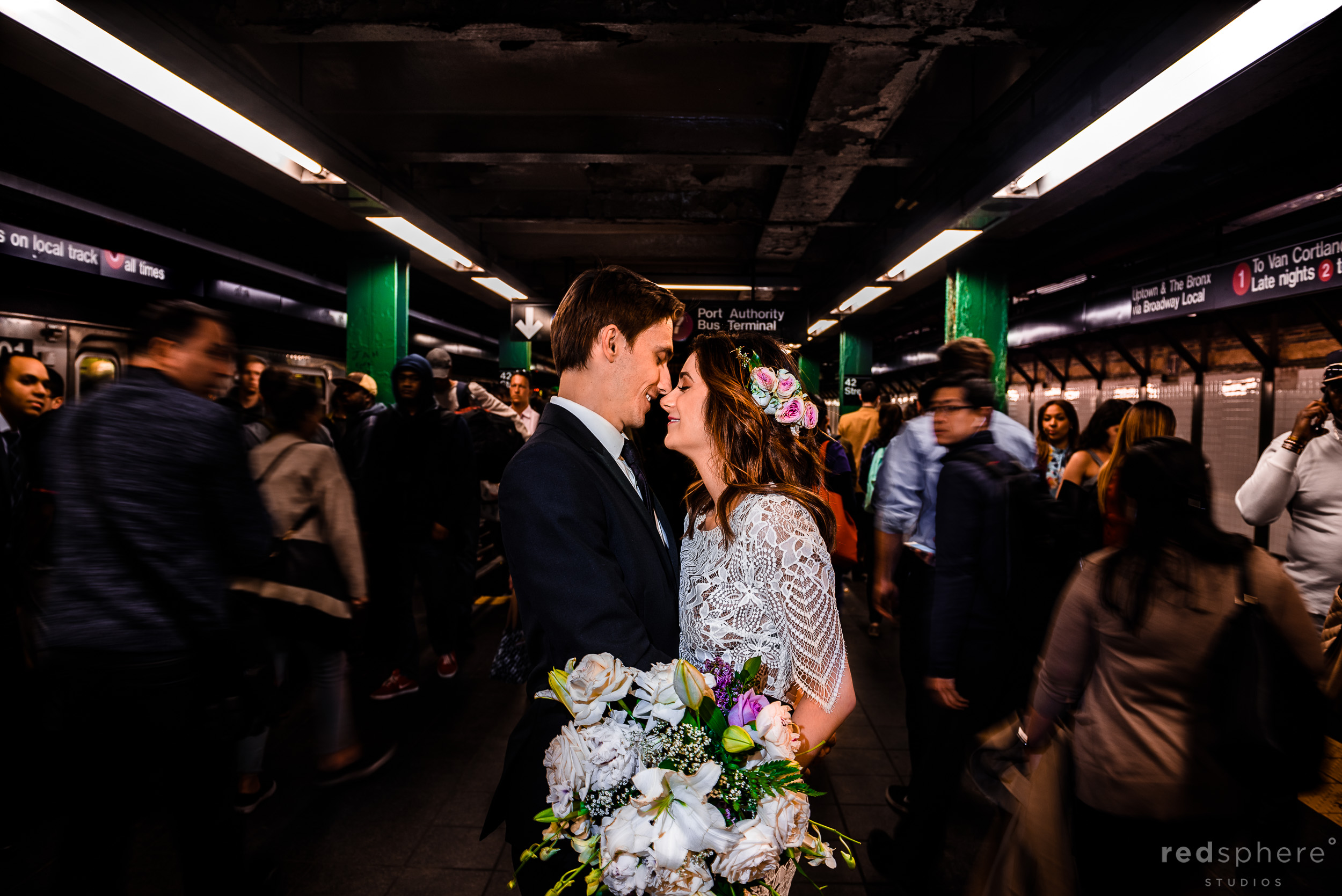 New York City Subway Wedding (Times Square)