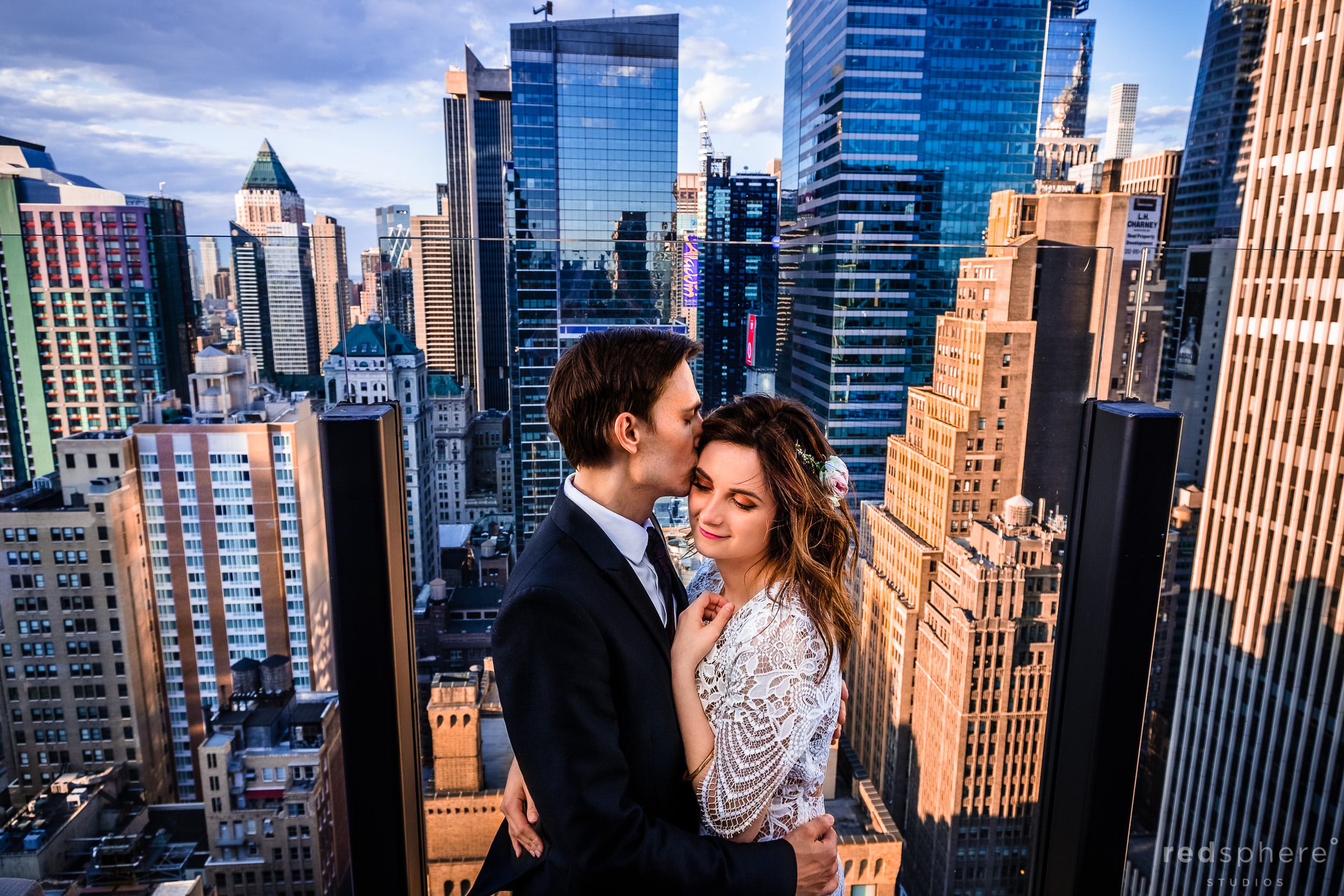 New York City Skyline Wedding Photos (NYC)
