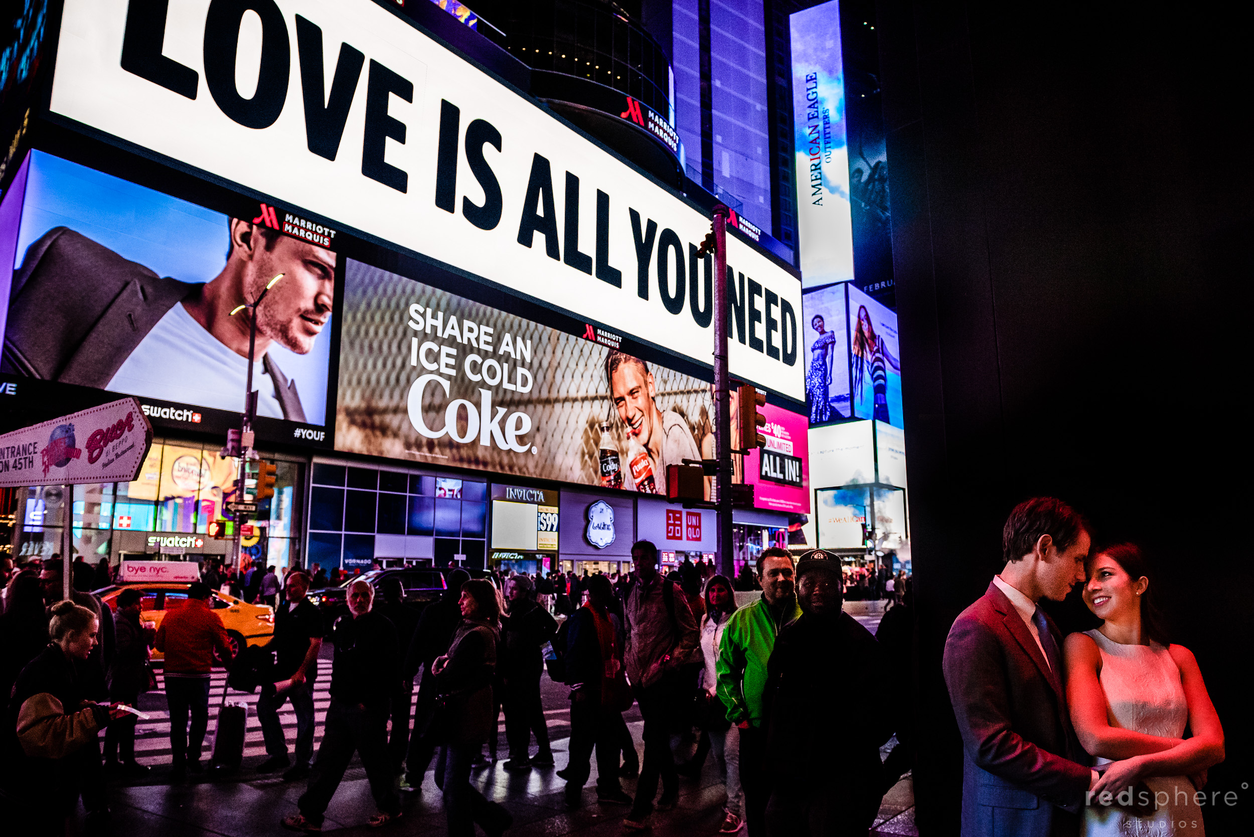 Times Square NYC Engagement