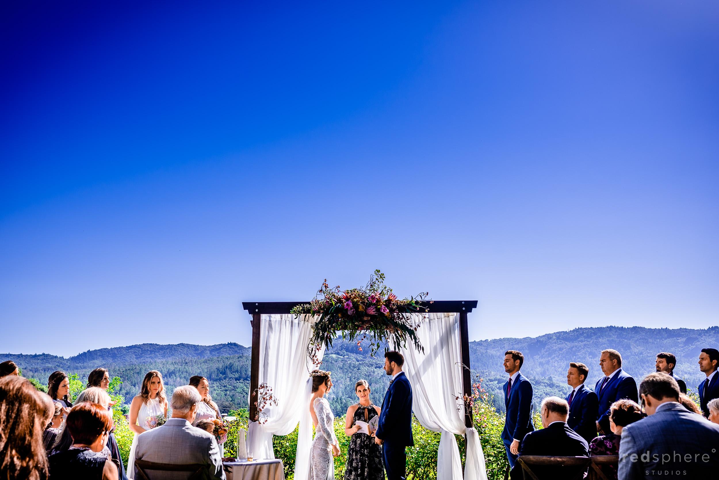 Elegant Garden Wedding Ceremony at Harvest Inn By Charlie Palmer, St. Helena, Napa Valley