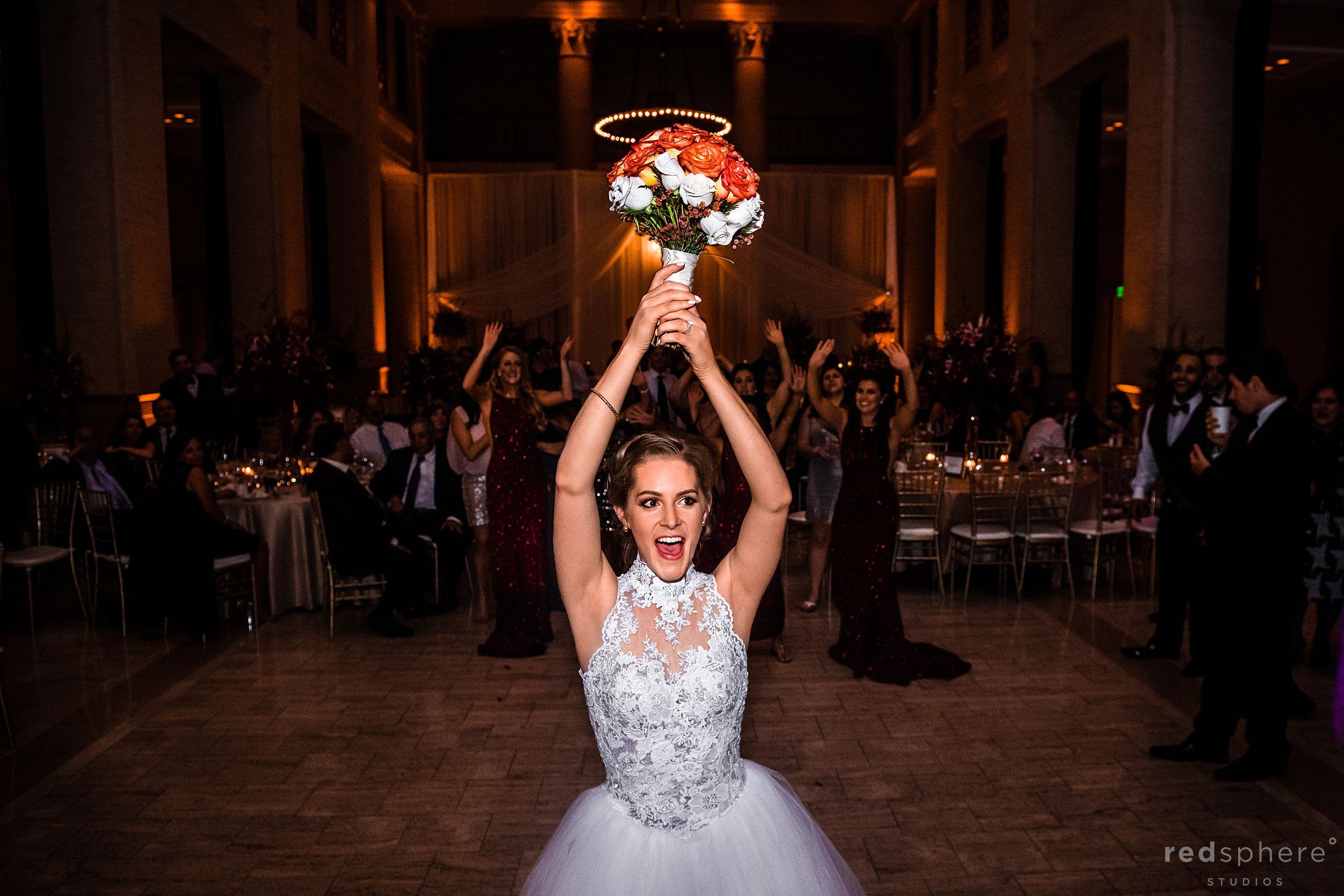 San Francisco Wedding at the Bently Reserve. Bouquet toss