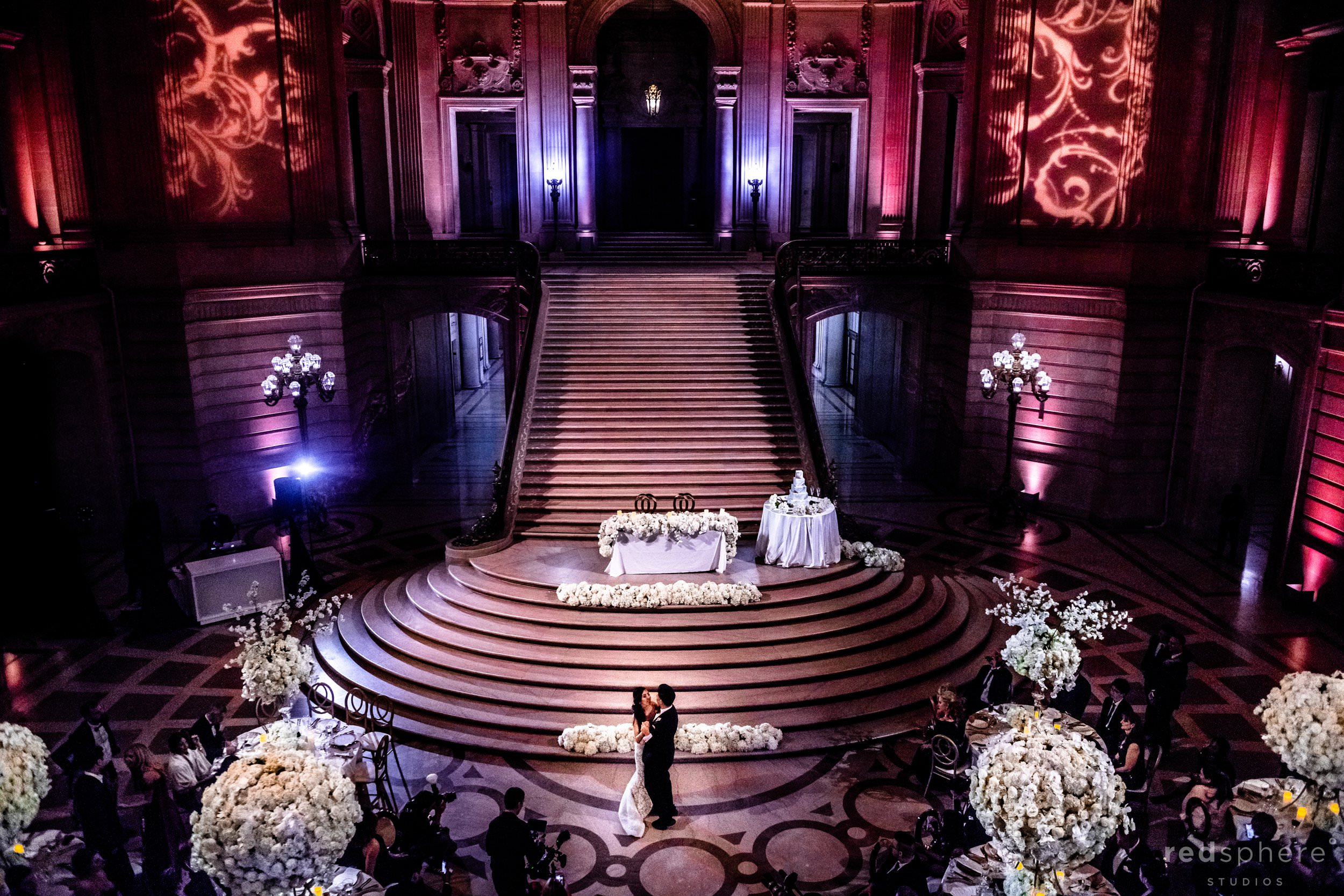 San Francisco City Hall wedding reception - First dance