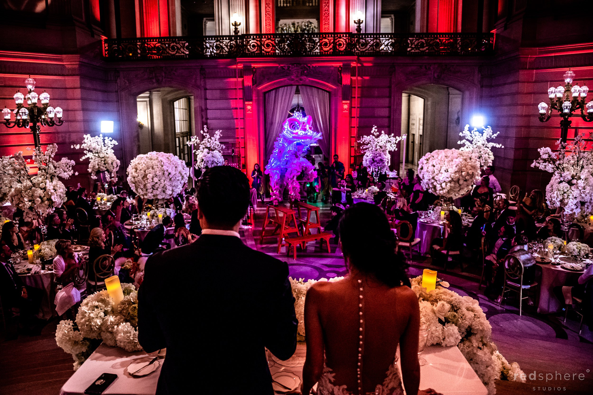 Chinese Lion Dance wedding at San Francisco City Hall
