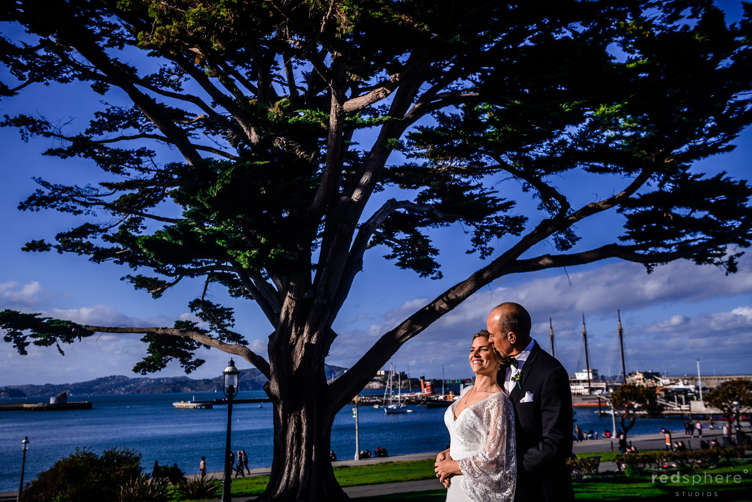 Aquatic Park Ghirardelli Square Wedding Photos