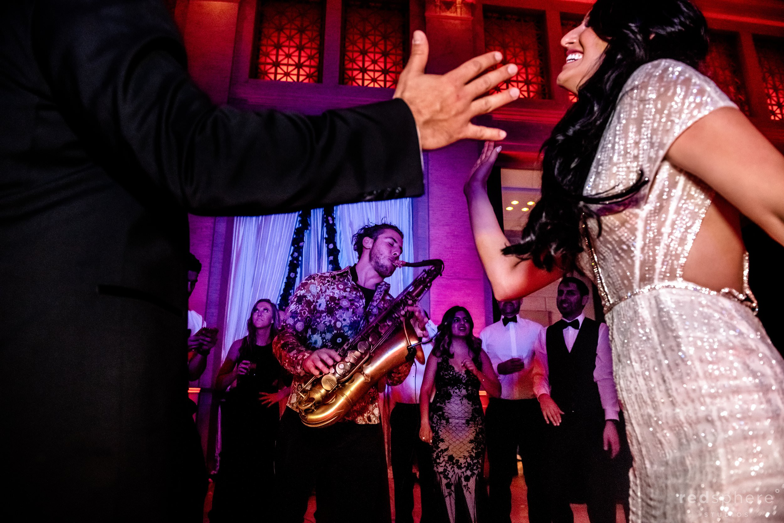 San Francisco Bently Reserve Wedding - Justin Ward saxophone
