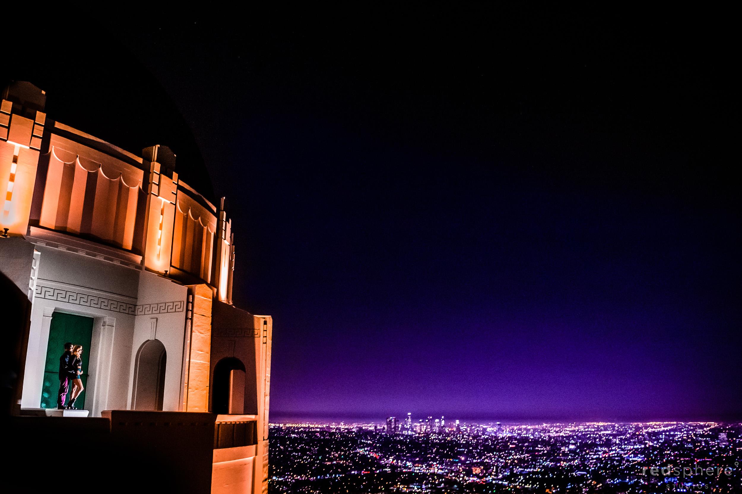 Griffith Observatory Los Angeles La La Land Engagement Session