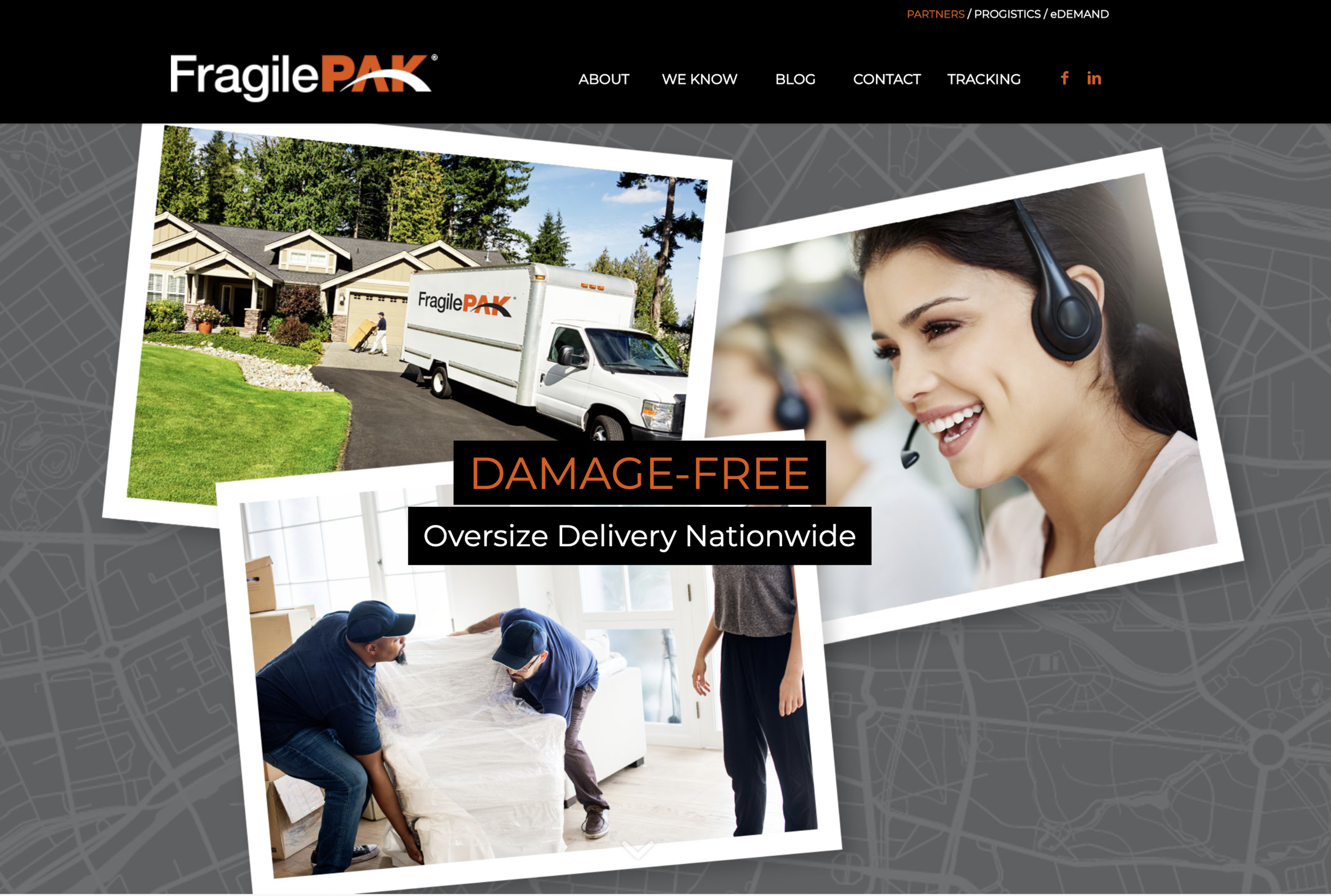 - Designed website layout and copy for FragilePAK, a premier specialist in factory to door delivery, offering Last Mile Delivery solutions to the B2B and B2C markets.