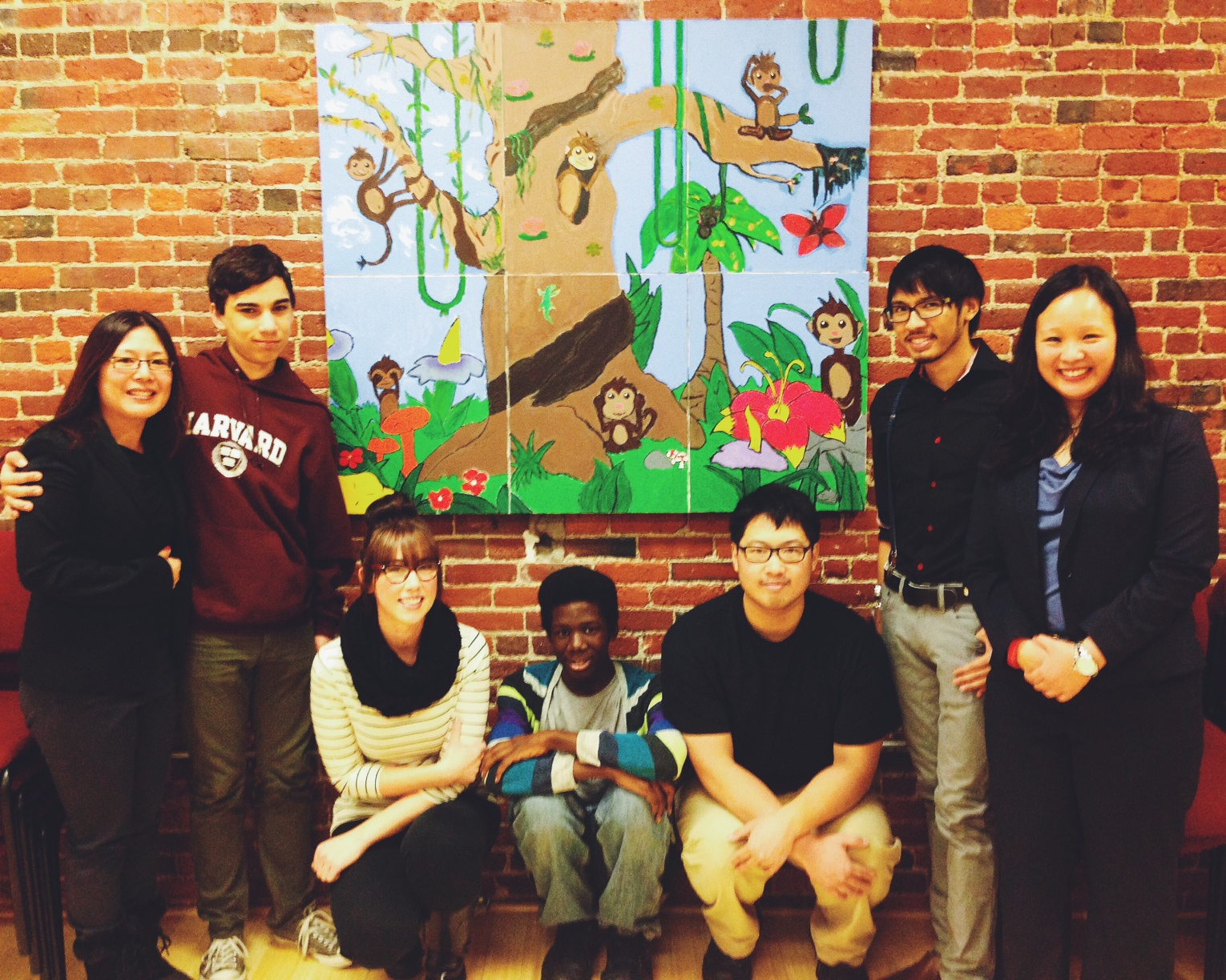MAP Staff & Peer Leaders at the Mural Unveiling for South Cove Community Health Center