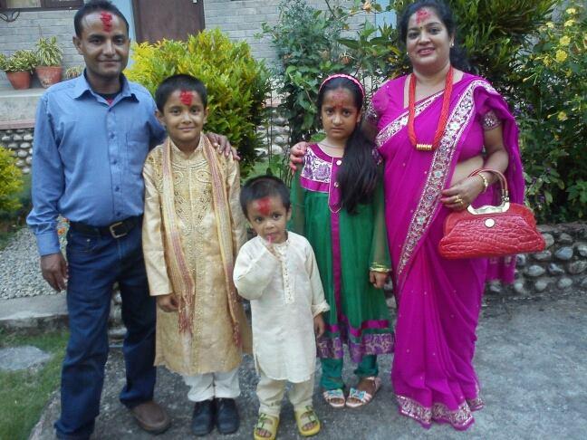 The family who took Siru in: Gyanam, Krish, Kiran, Krishtina, Parbati