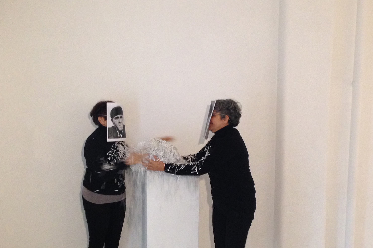 Maria Miranda and Norie Neumark (Out-of-Sync) | I Can Hardly Wait-Stuplimity and the Aesthetics of Neo-Liberalism, 2016. Performance view at BLINDSIDE