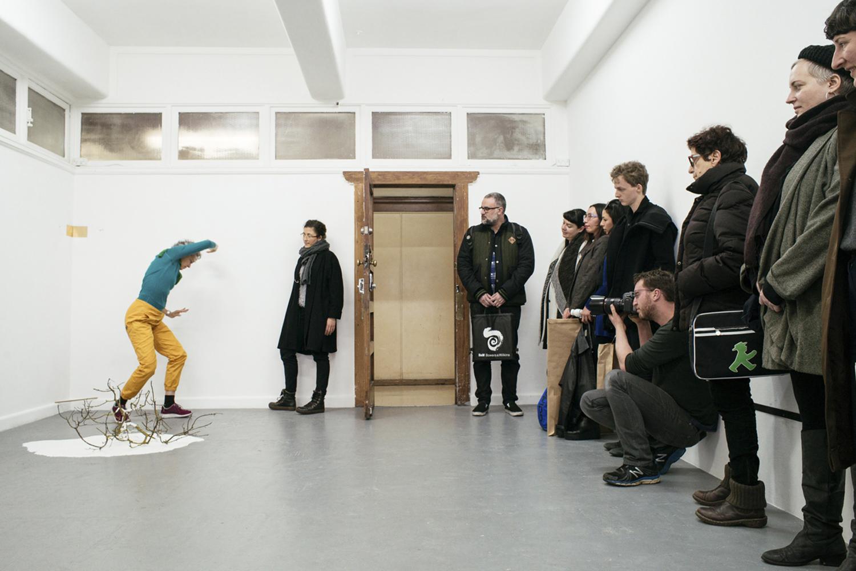 Bridie Lunney + performance by Shelley Lasica, Gesture Manifest, BLINDSIDE 2016.