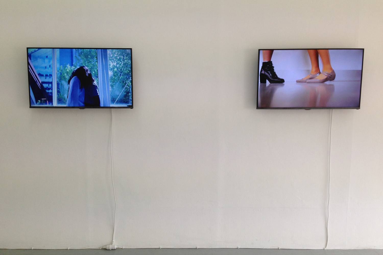 Georgia Robenstone I'm Trying, 2014, Two-channel HD videos, looped.