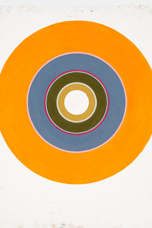 Lynette Smith, Empty target orange, 2013, pastel on paper, 56 x 77cm.