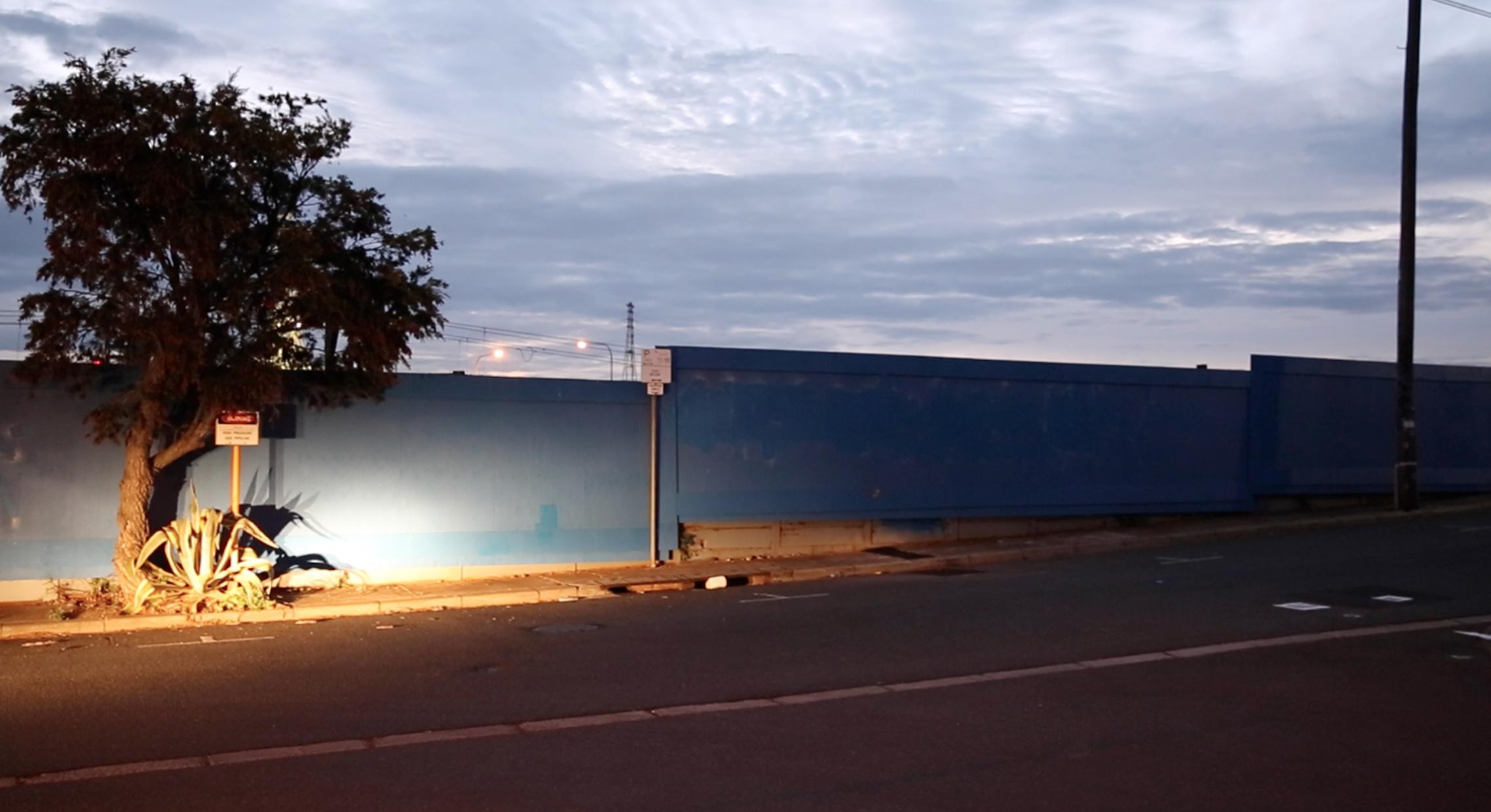 PeterWestwood_Long blue wall 2013.jpg