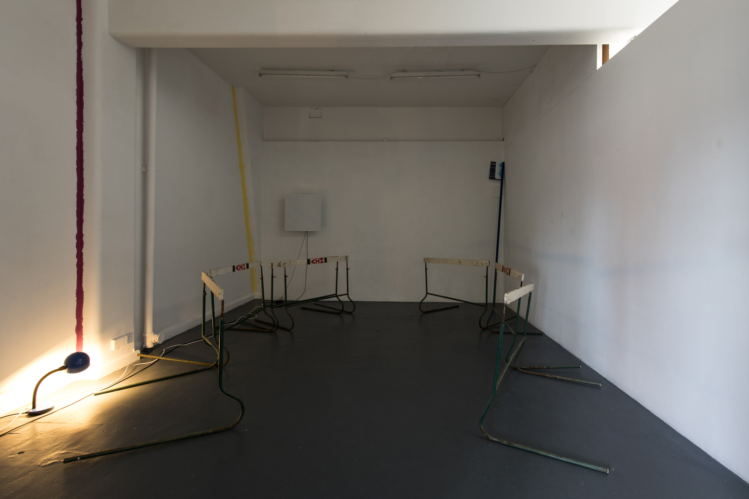 Mark Booth and Michael Graeve,  (18) … Insert TEXT HERE …: Thus one might add (but not that itself , 2017, mixed media installation, 7 channel sound, 73:00. BLINDSIDE | Photo Nicholas James Archer. Courtesy the artists.