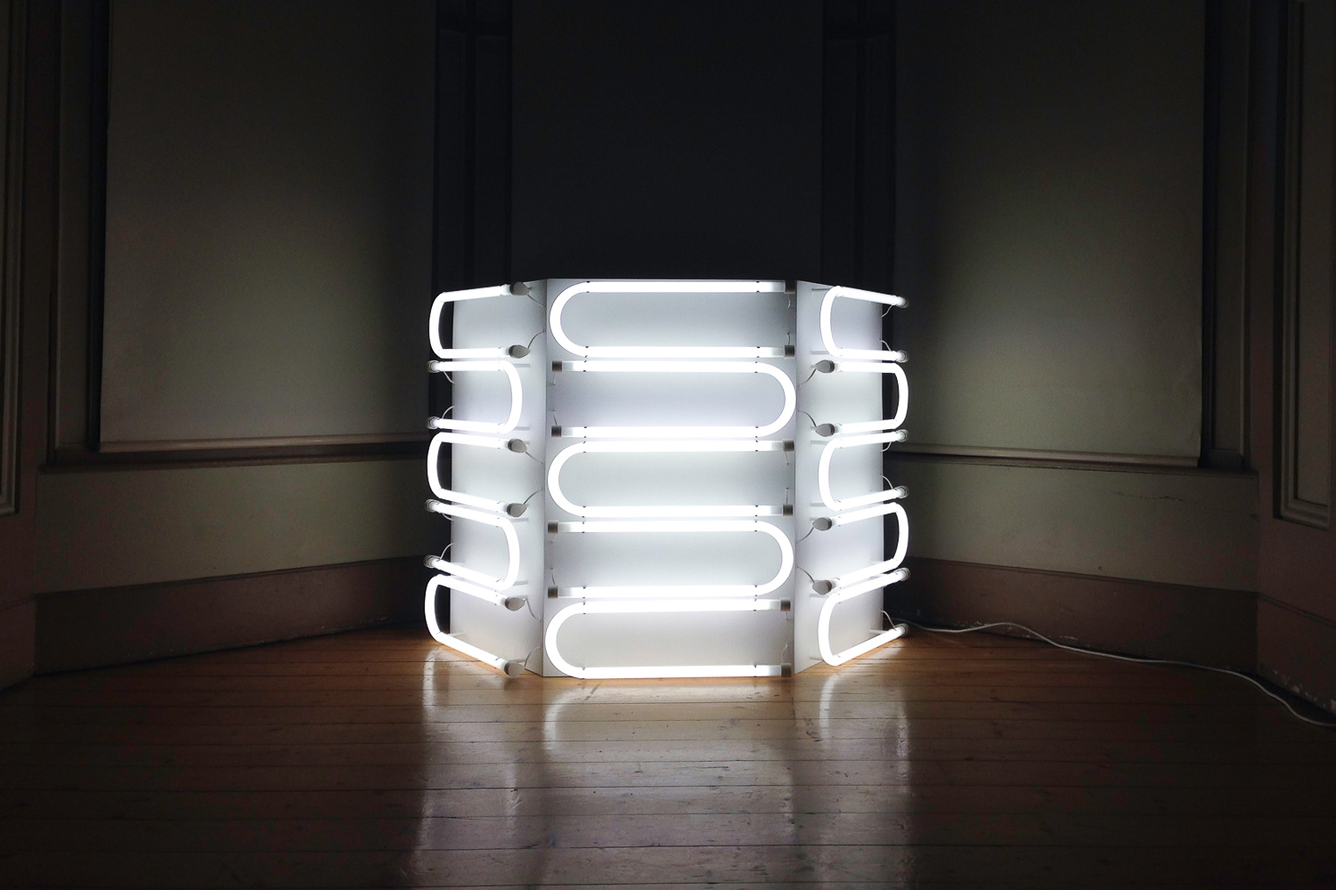 Meagan Streader,  One-Quarter U-Bend Column,  2017, light sculpture. | Courtesy the artist.