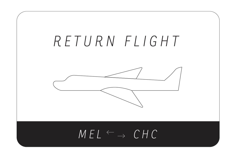 RETURN FLIGHT MEL>CHC  Curated by Elizaveta Maltseva  11 - 28 JUL 2018