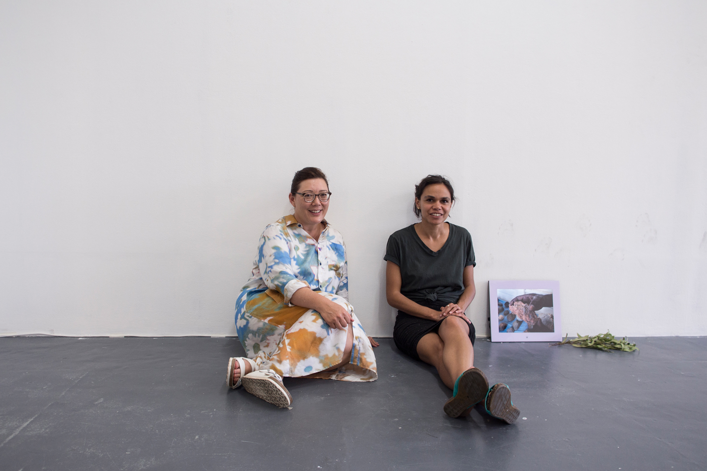 Fayen D'Evie + Katie West,BLINDSIDE Summer Studio Artists 2018. Photograph by Eliza Tiernan. Image courtesy the artists.