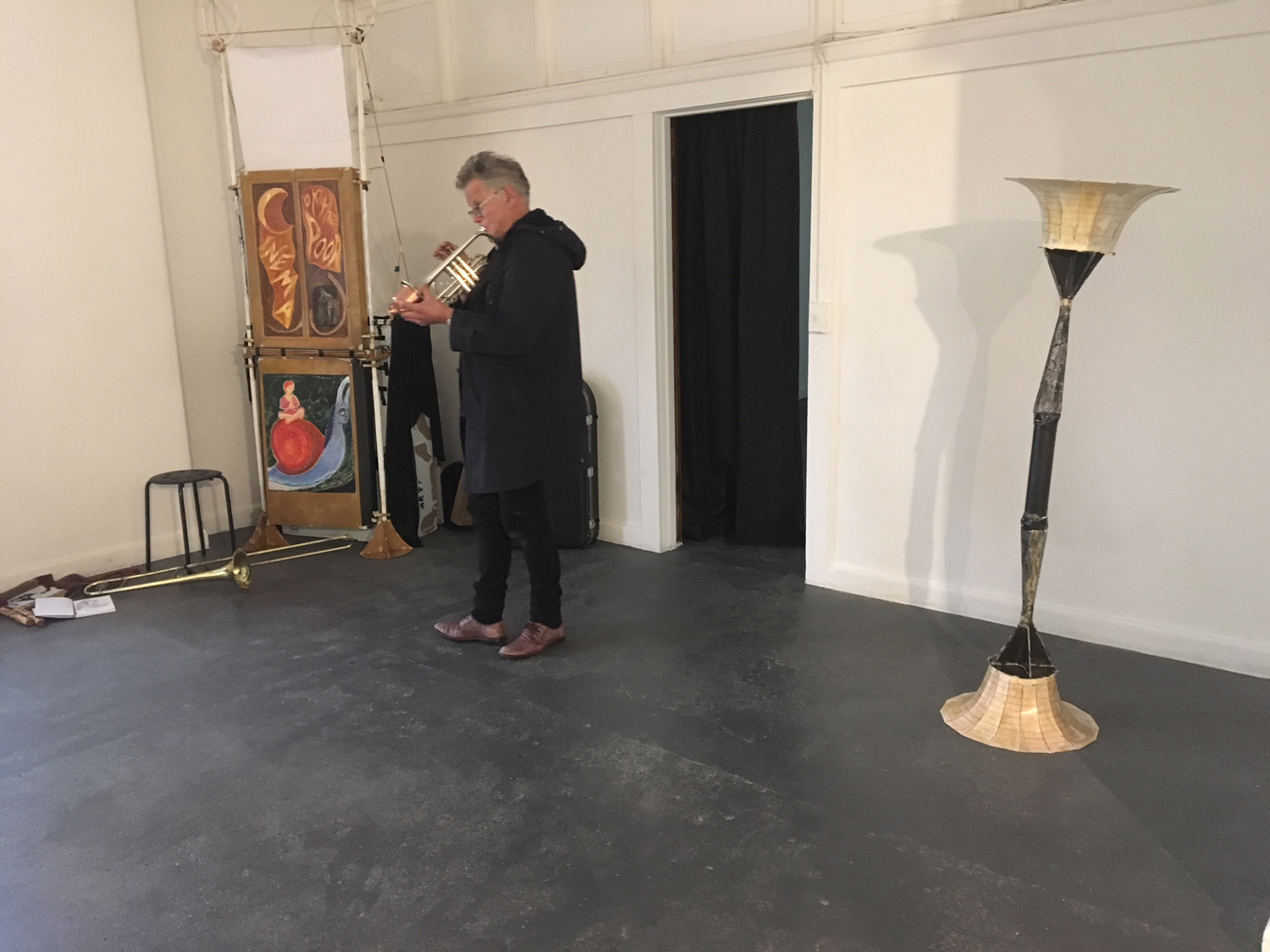Gerard Crewdson,  Serpentsongs/Windshadows,  artist performance with sound sculptures, BLINDSIDE 2018. Courtesy the artist and participants.