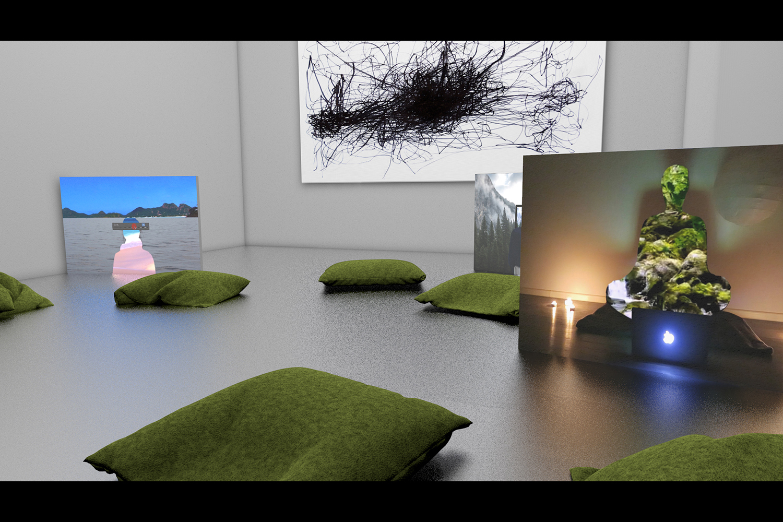 Zuza Banasinska, exhibition landscape visualization, 2018 | Courtesy the artist.