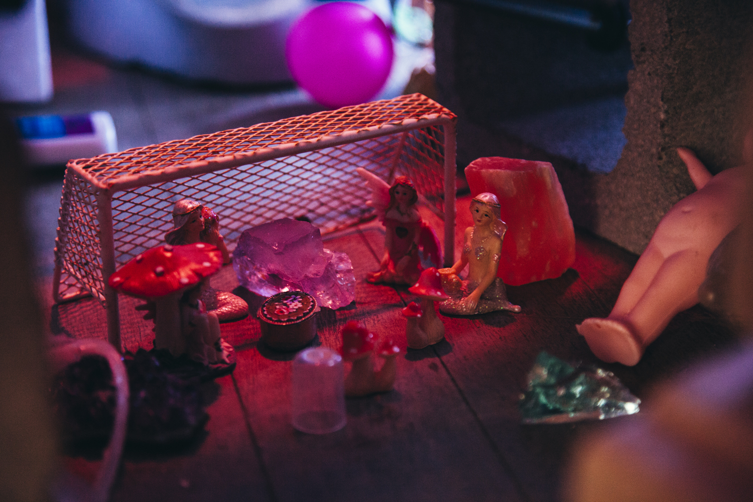 Haydn Allen,  Pink Flamingo Tuesdays , 2018, mixed-media installation, dimensions variable | Courtesy the artist.