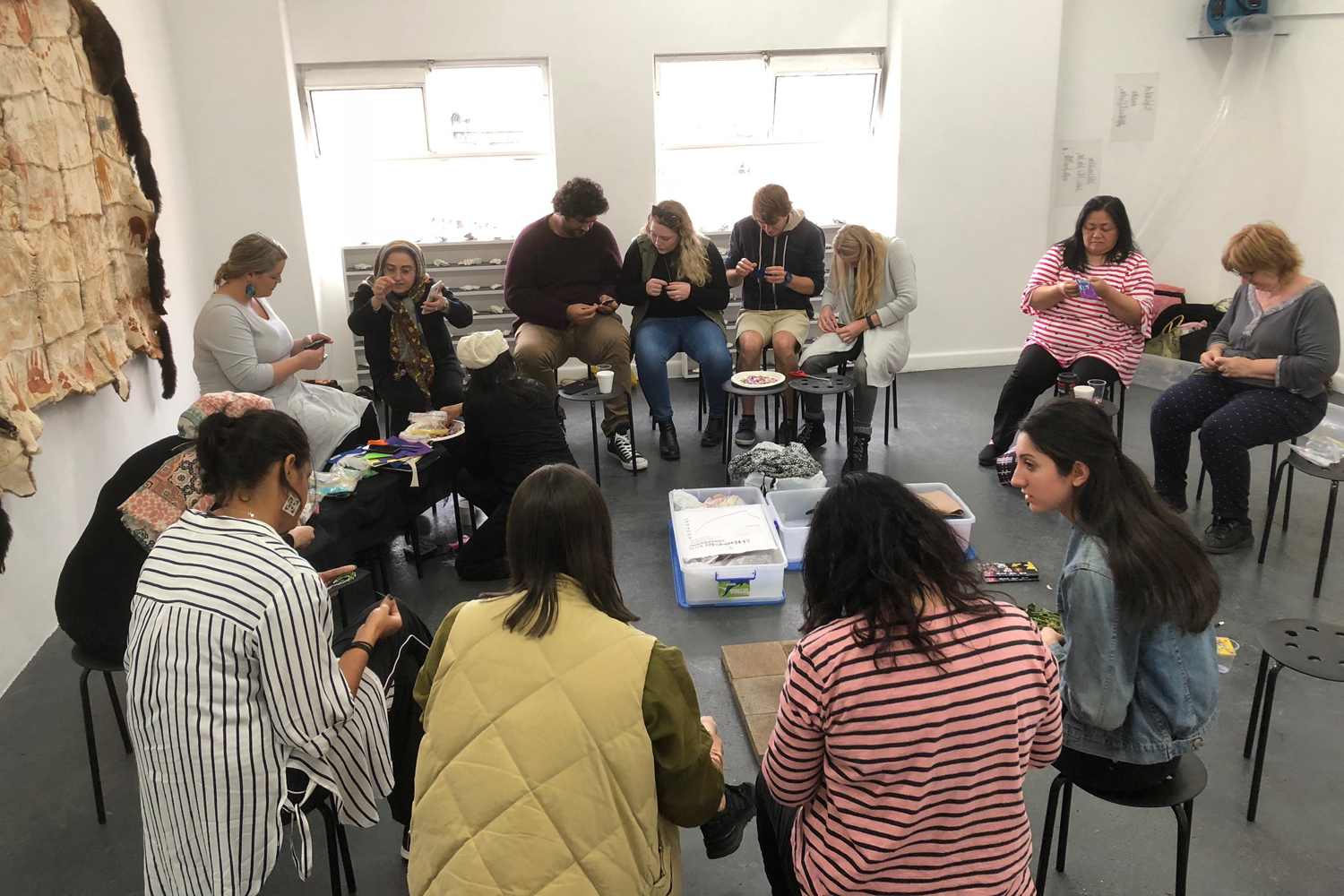 Participatory Workshop by Liam Benson with Adorned. All of Us, BLINDSIDE 2018. Photo Liam Benson | Courtesy the artists