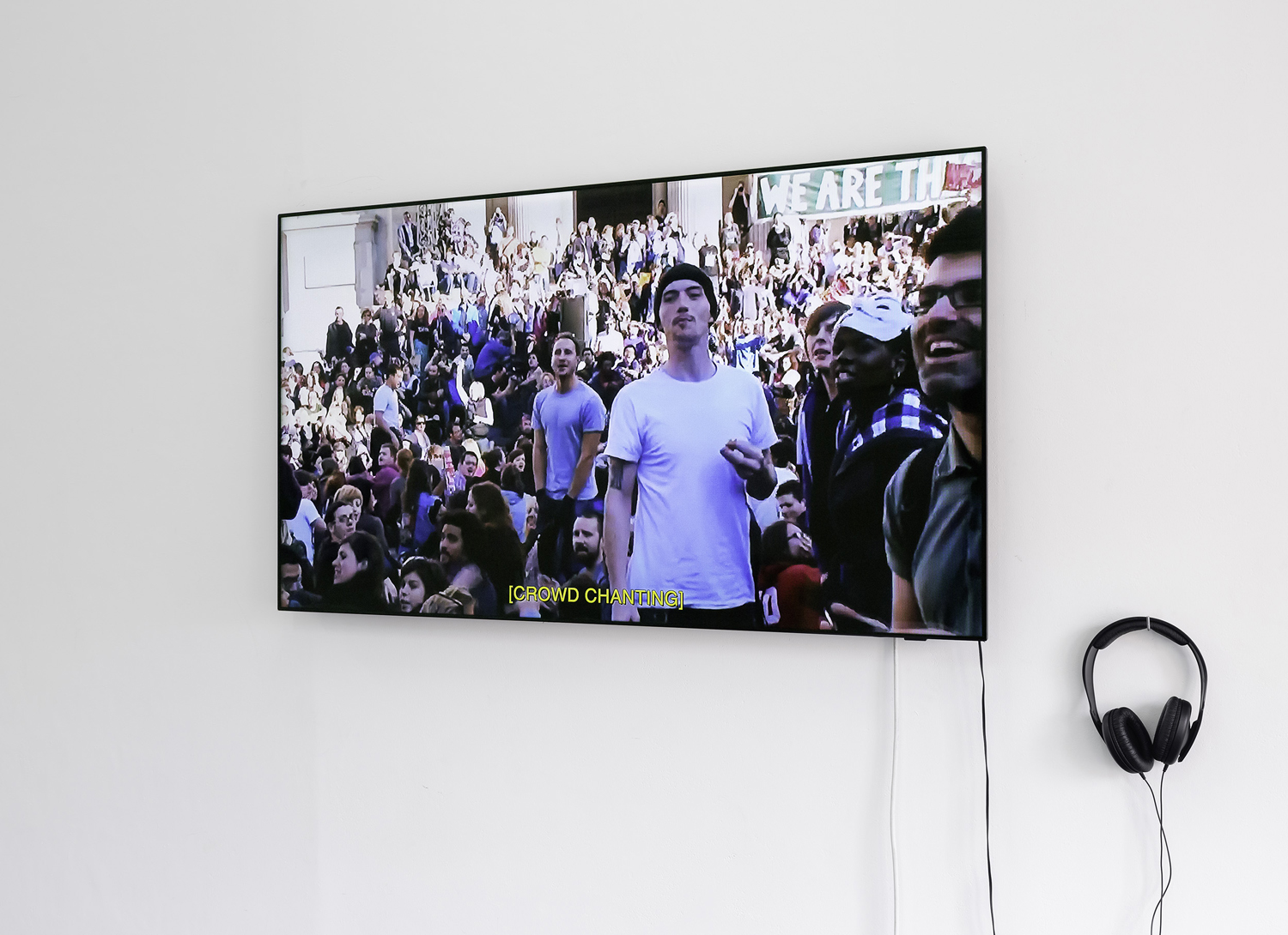 Georgia Robenstone,  Agora  (still) 2019, single-channel digital video, sound.  The medium is public , BLINDSIDE 2019 | Courtesy of the artist. Photograph Christian Capurro