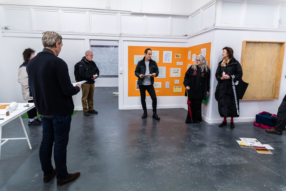 Unfinished Decor, BLINDSIDE 2019. Performative Lecture 12.6. Peter Burke + Robert Mangion |Photograph Roberta Govoni | Courtesy the artists.