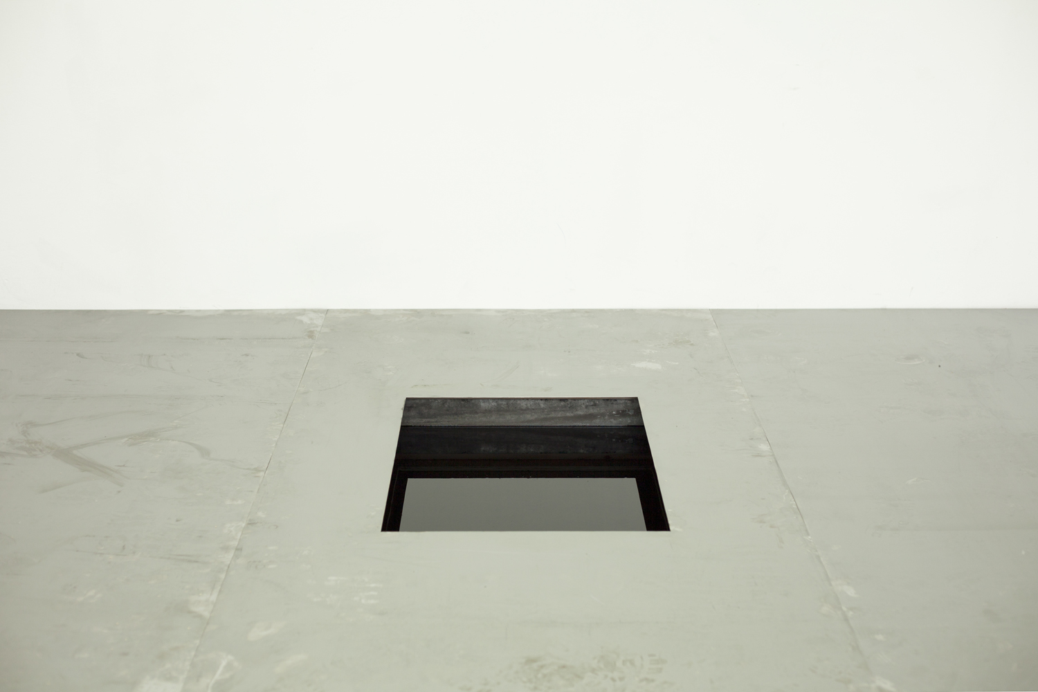 Yvette James,  Risking the Ocean Beneath Us , 2018, steel and sump oil, Dimensions Variable | Courtesy the artist