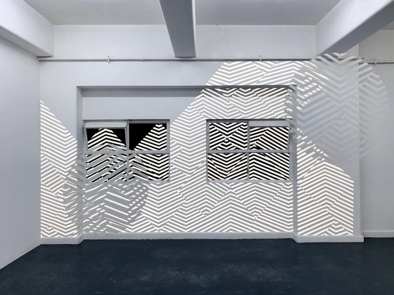 Britt Salt,  Echo-theque , 2019, vinyl & Perspex, dimensions specific to site. Courtesy the artist.