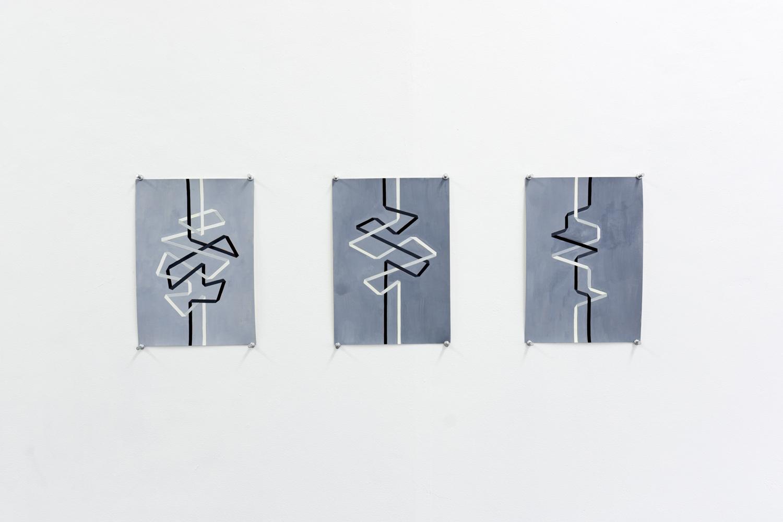 Nadia Odlum,  Our separate ways, study I, II, & III,  2019, installation. Photo: Talia Carroll. | Courtesy the artists.