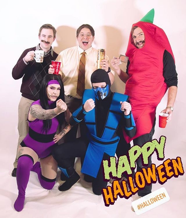 Happy Halloween 2019! Tomorrow is the first day of Christmas. #mortalkombat #parksandrec #theoffice #redhotchilipeppers #halloween